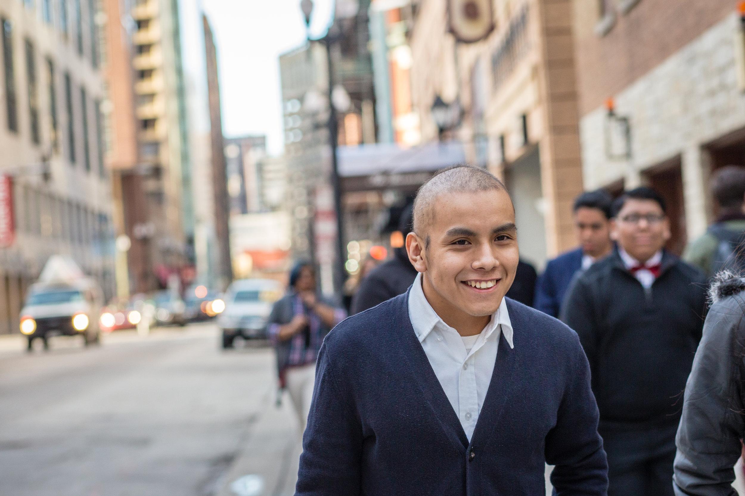 Arrupe College graduate Carlos Luna (photo by Loyola University Chicago)