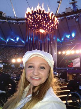Coan snapped a selfie during the Opening Ceremonies in Rio in September 2016 (photo courtesy of Loyola Athletics)