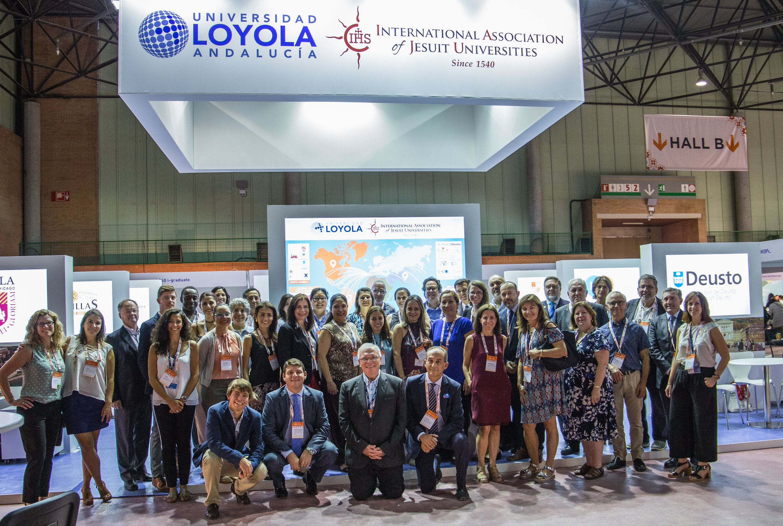 Students and administrators from Loyola University Andalusia at EAIE 2017.