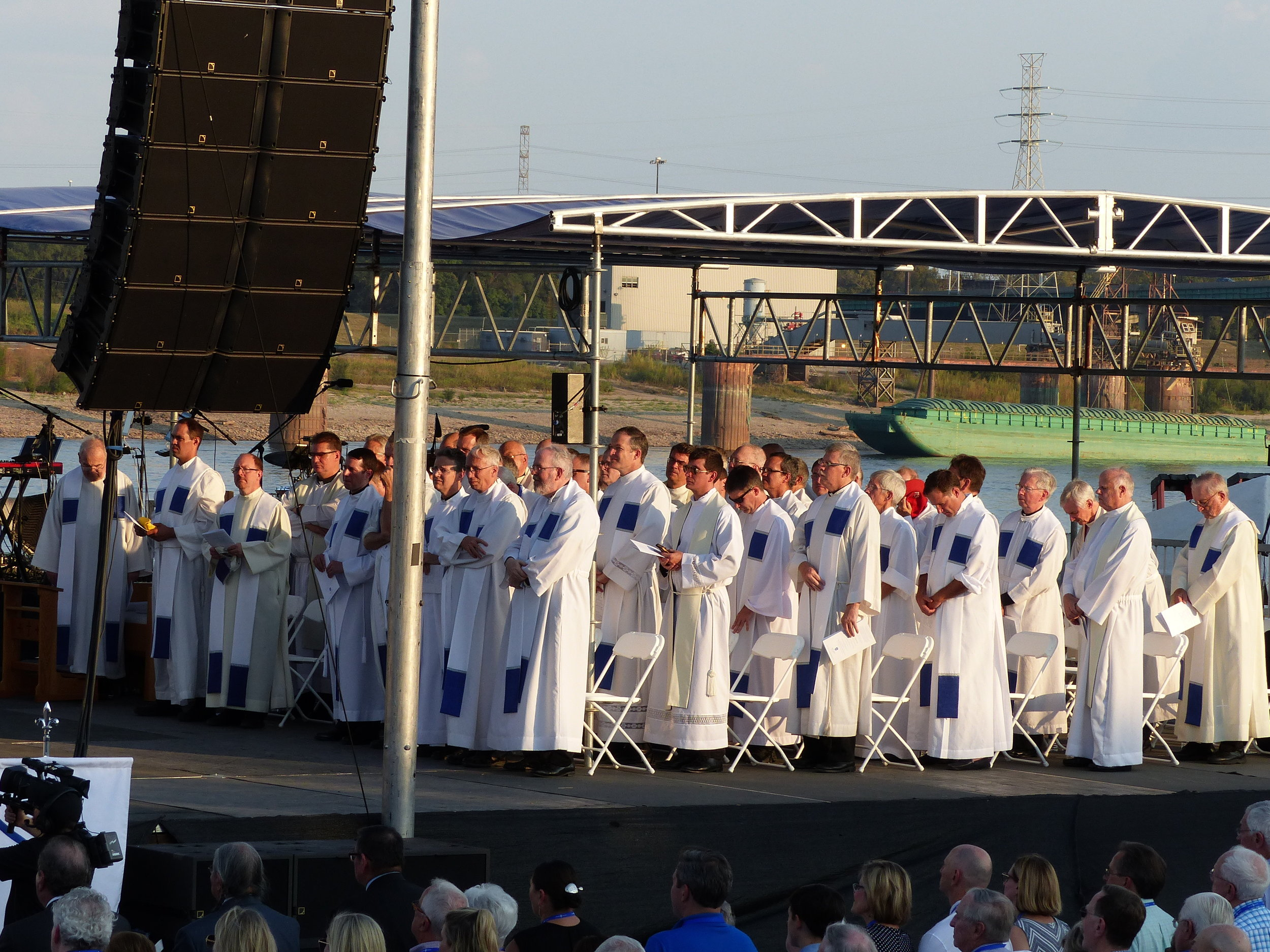 Rev. Michael J. Sheeran, S.J. (fourth from right) concelebrated the Saint Louis University Bicentennial Mass in St. Louis, MO on September 23, 2017 (photo by USA Central and Southern Province)
