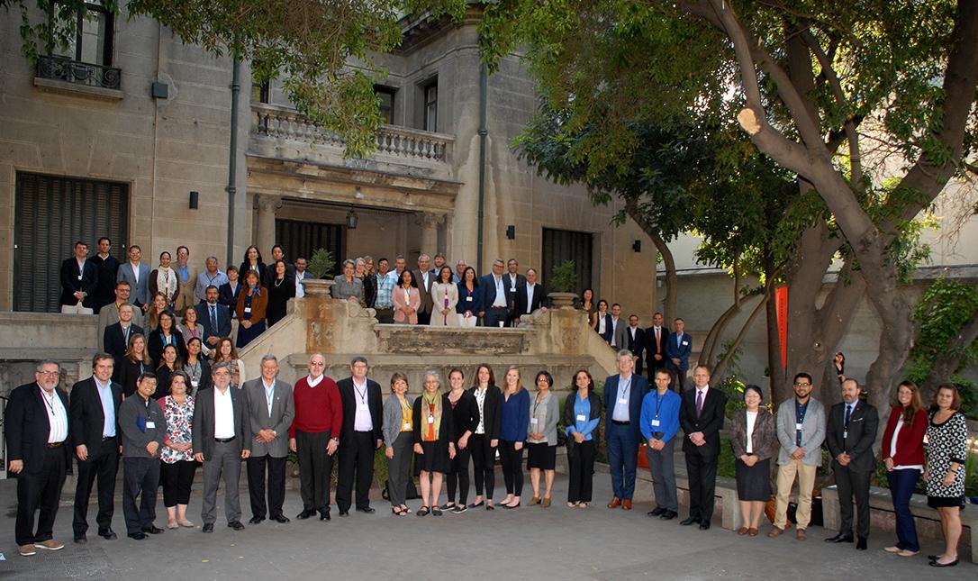 Members of the AJCU International Education Conference at Universidad Alberto Hurtado in Santiago, Chile in November 2017 (Photo by Universidad Alberto Hurtado)
