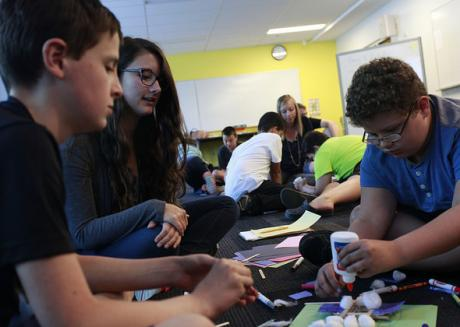 summerMAX participants engage in a therapeutic activity in Buffalo, NY (photo by Canisius College)