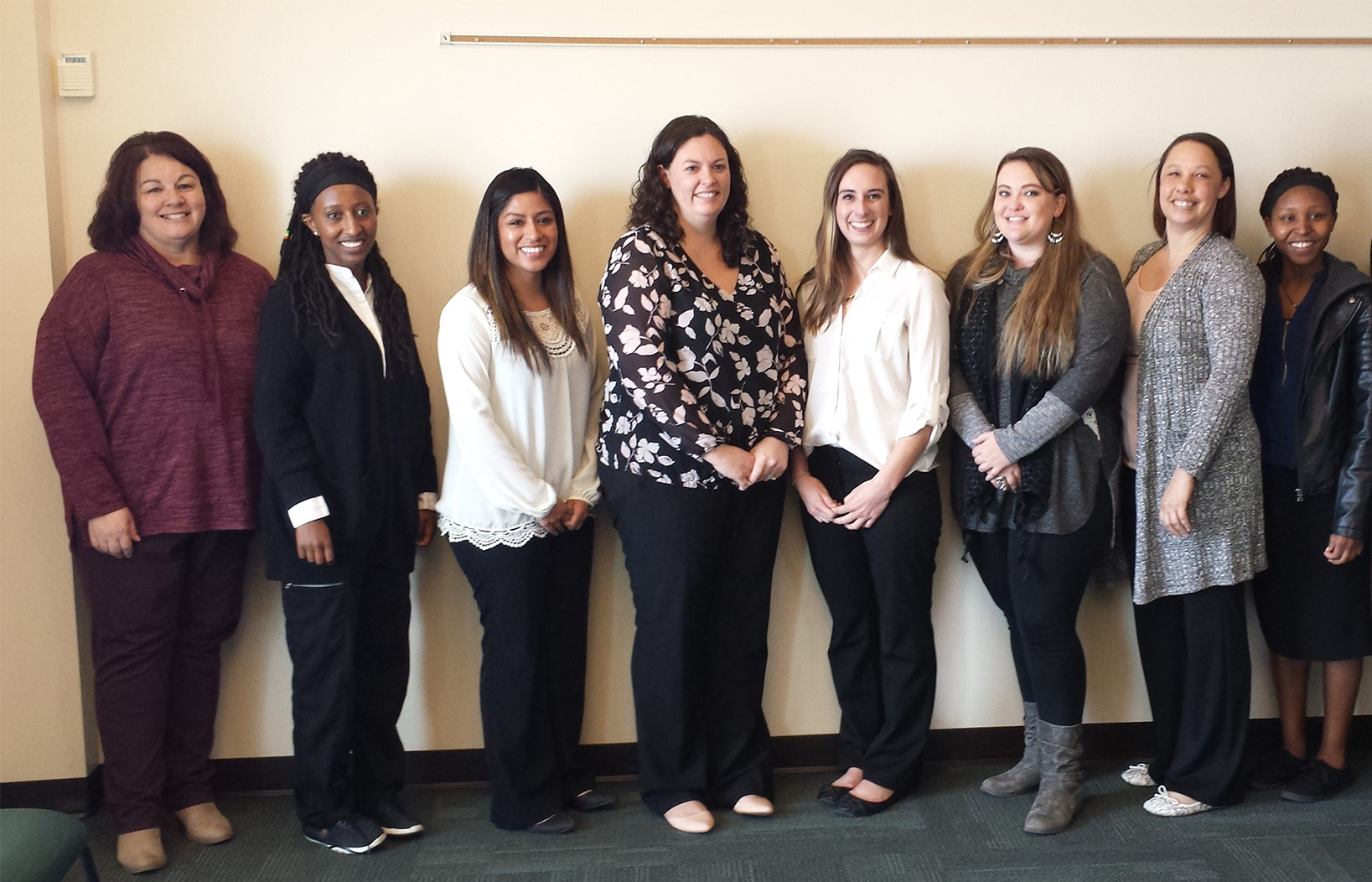 Members of the first graduating cohort from Regis University's dual enrollment nursing program (Photo by Regis University)