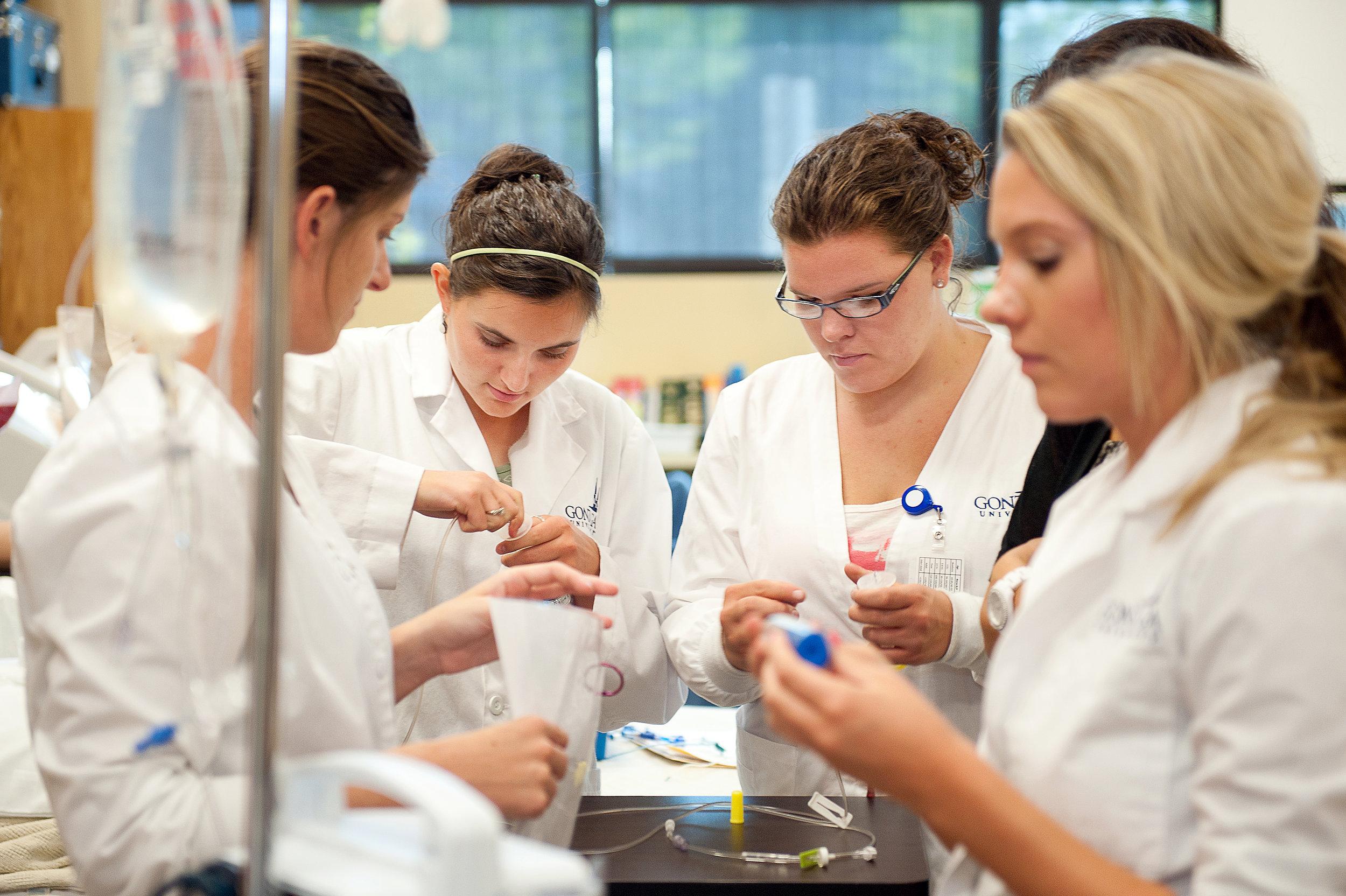 Nursing skills lab at Gonzaga University