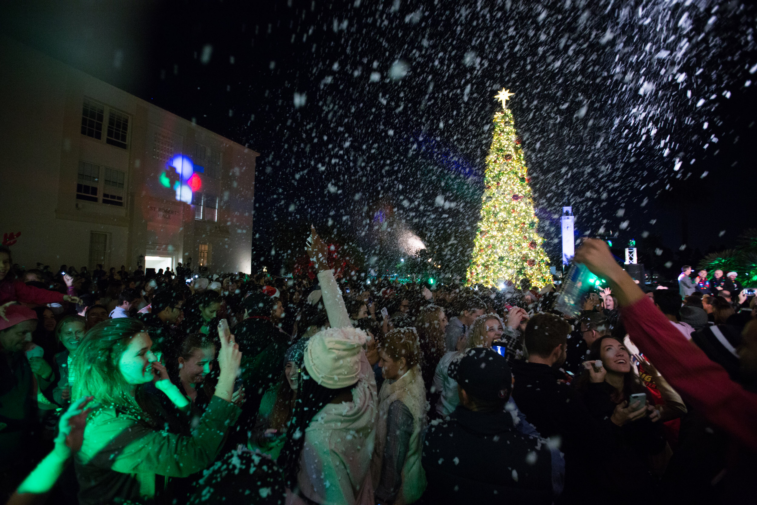 Christmas at Loyola Marymount University in Los Angeles, CA (photo by Ravi Ranatunga for Loyola Marymount University)