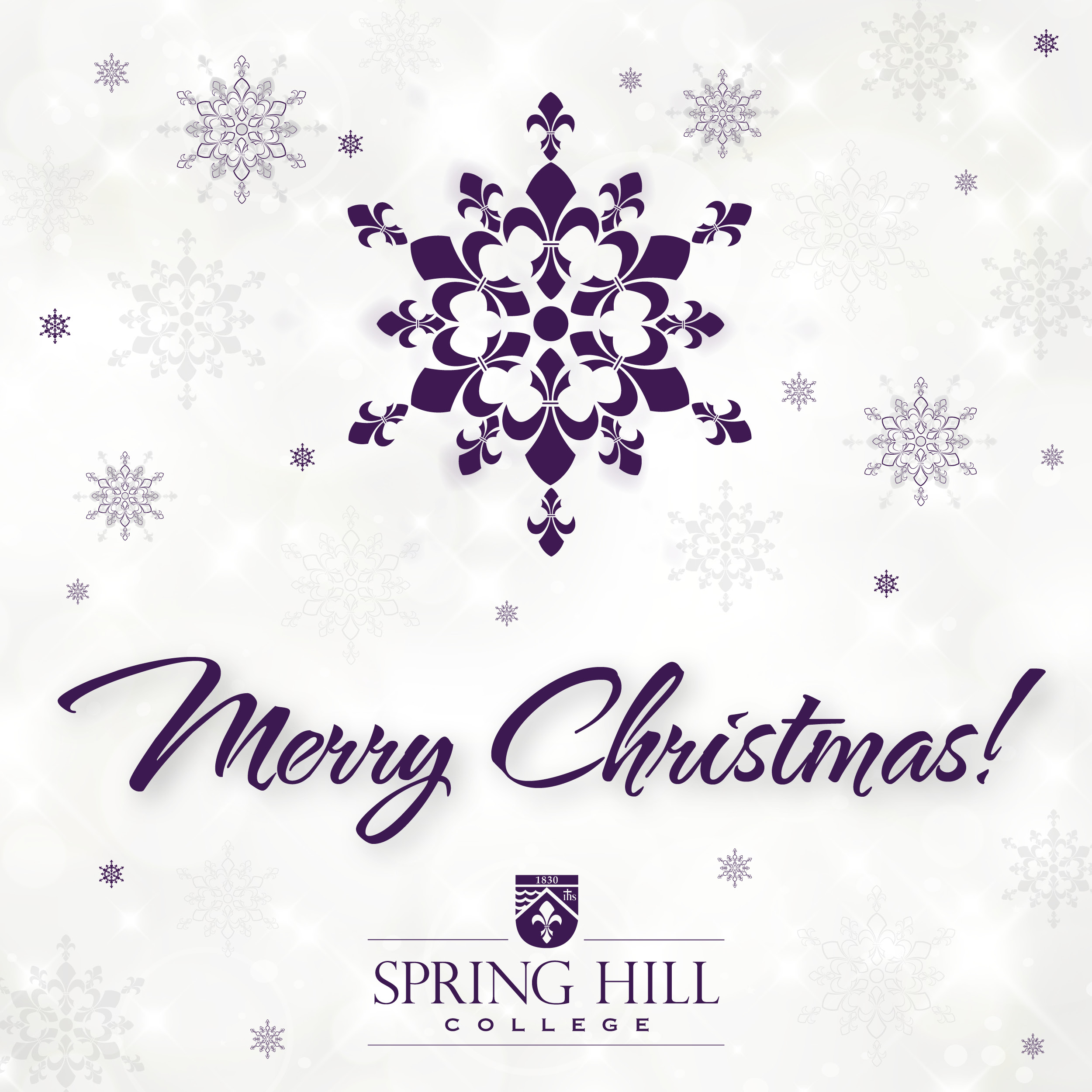 Christmas greetings from Spring Hill College (photo by Spring Hill College)