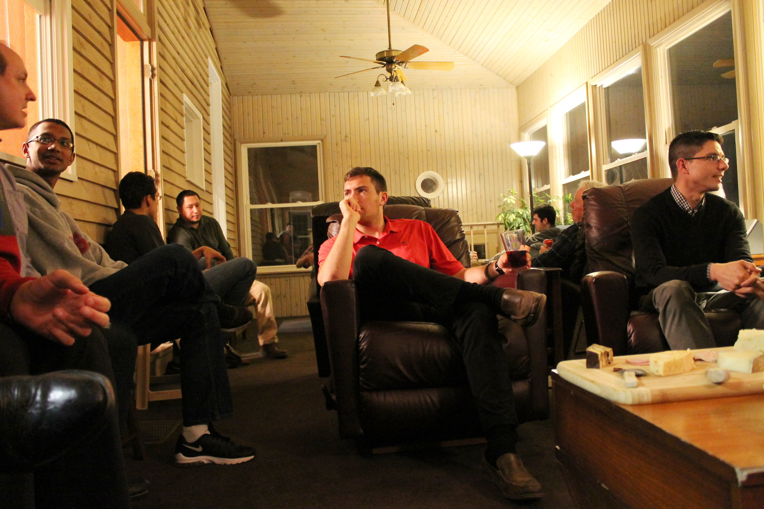 Young Jesuits in community at Bellarmine House (photo by Saint Louis University)