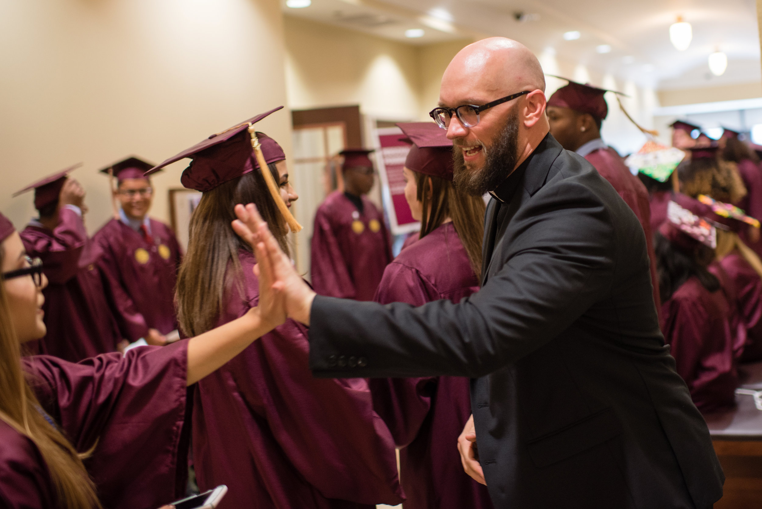 Arrupe College commencement ceremony (photo courtesy of Loyola University Chicago's Office of Marketing and Communications)