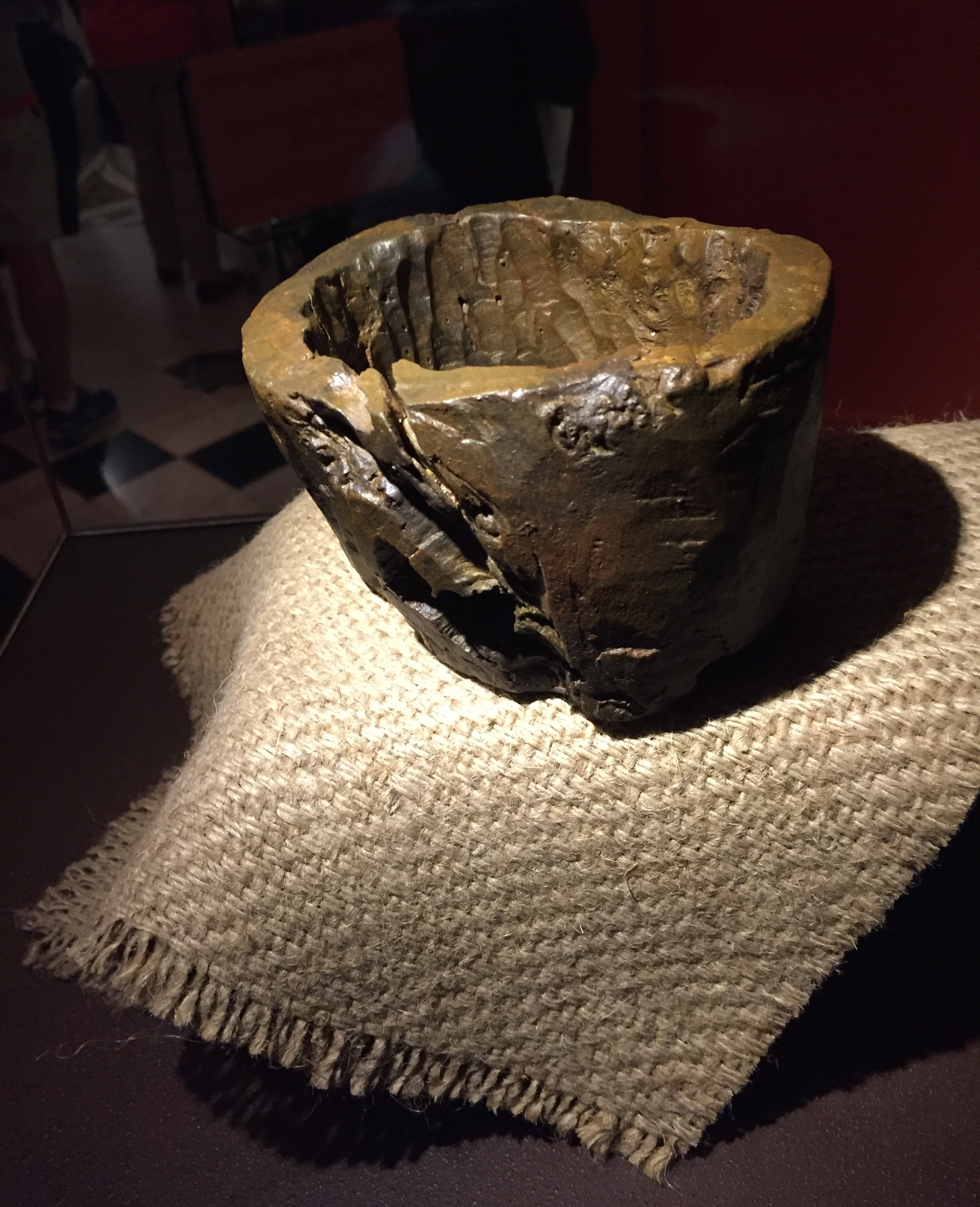 St. Ignatius used this bowl to collect money for the Society of Jesus (photo courtesy of Loyola University Maryland)
