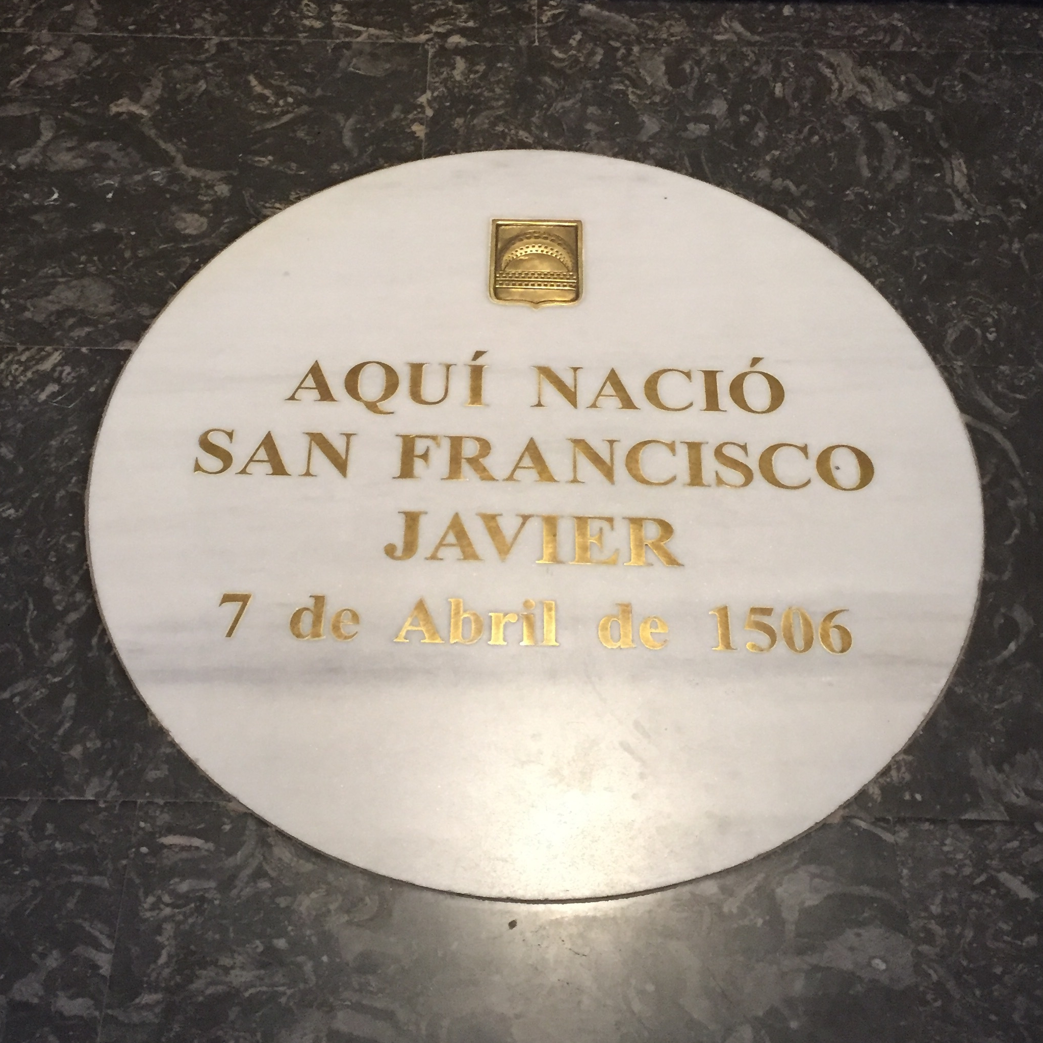 During their pilgrimage, the group visited the birthplace of St. Francis Xavier (photo courtesy of Loyola University Maryland)