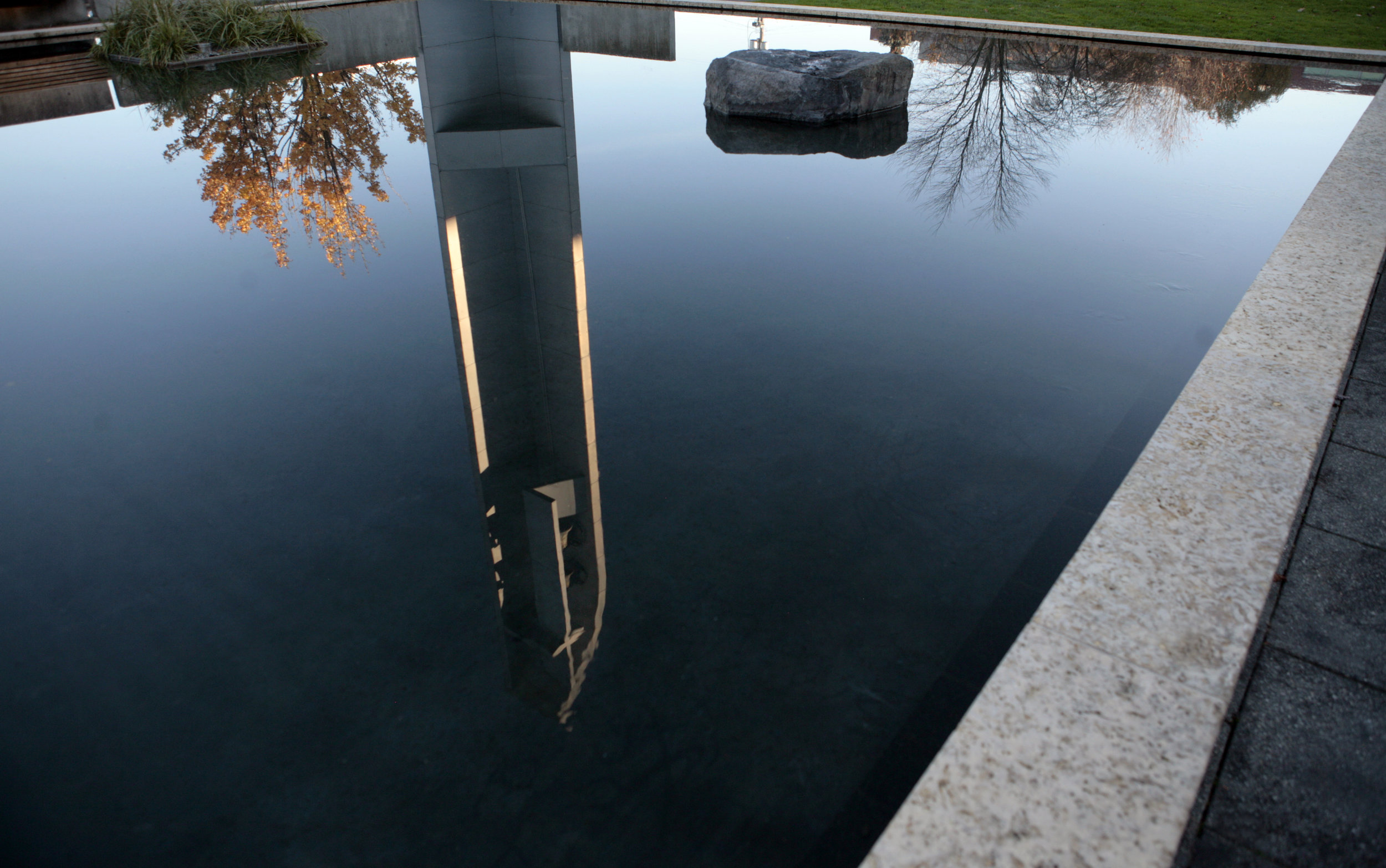 Outside reflection of the Chapel of St. Ignatius (photo courtesy of Seattle University)