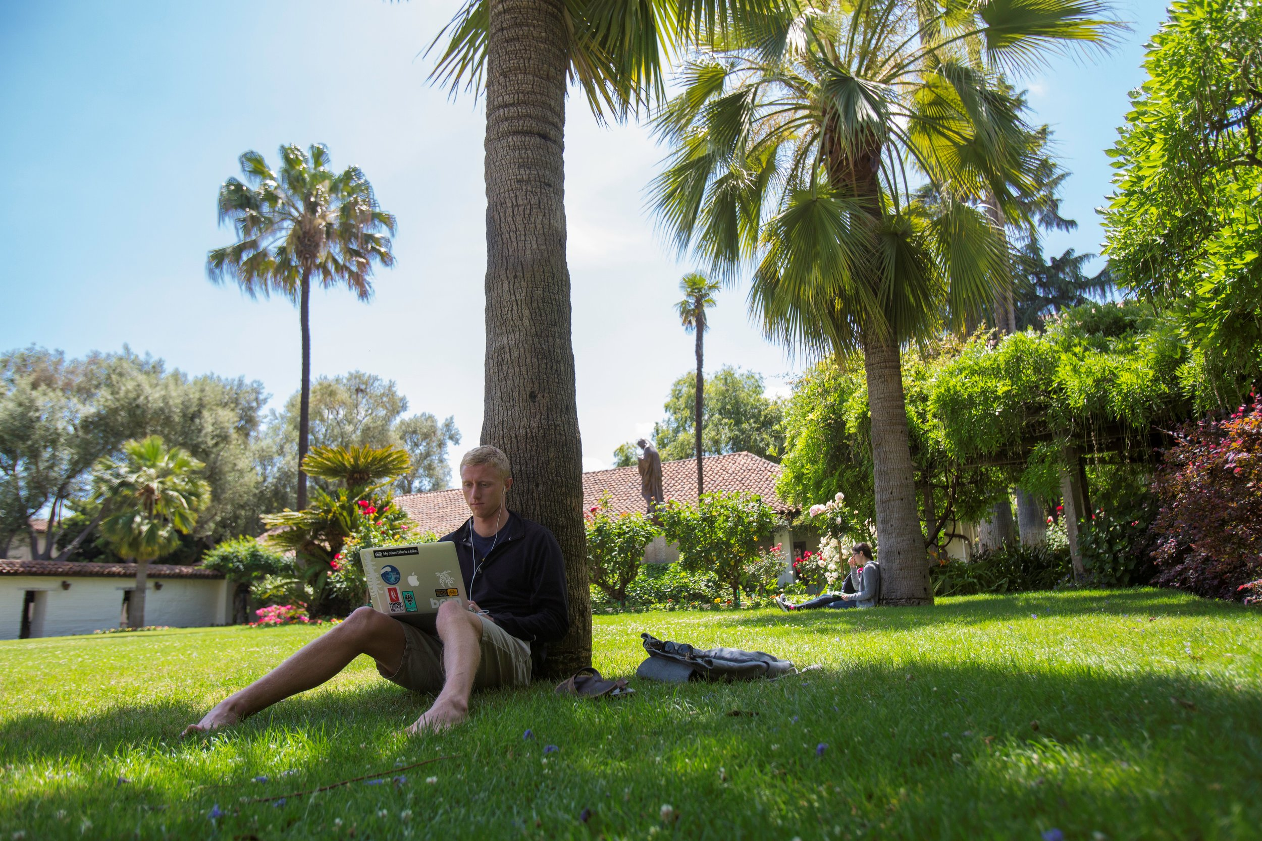 Mission Garden at Santa Clara University is one of many sites on campus where students in the class,  Exploring Living Religions , can research and observe the sensate experience of religion and spirituality (p hoto courtesy of Santa Clara University)
