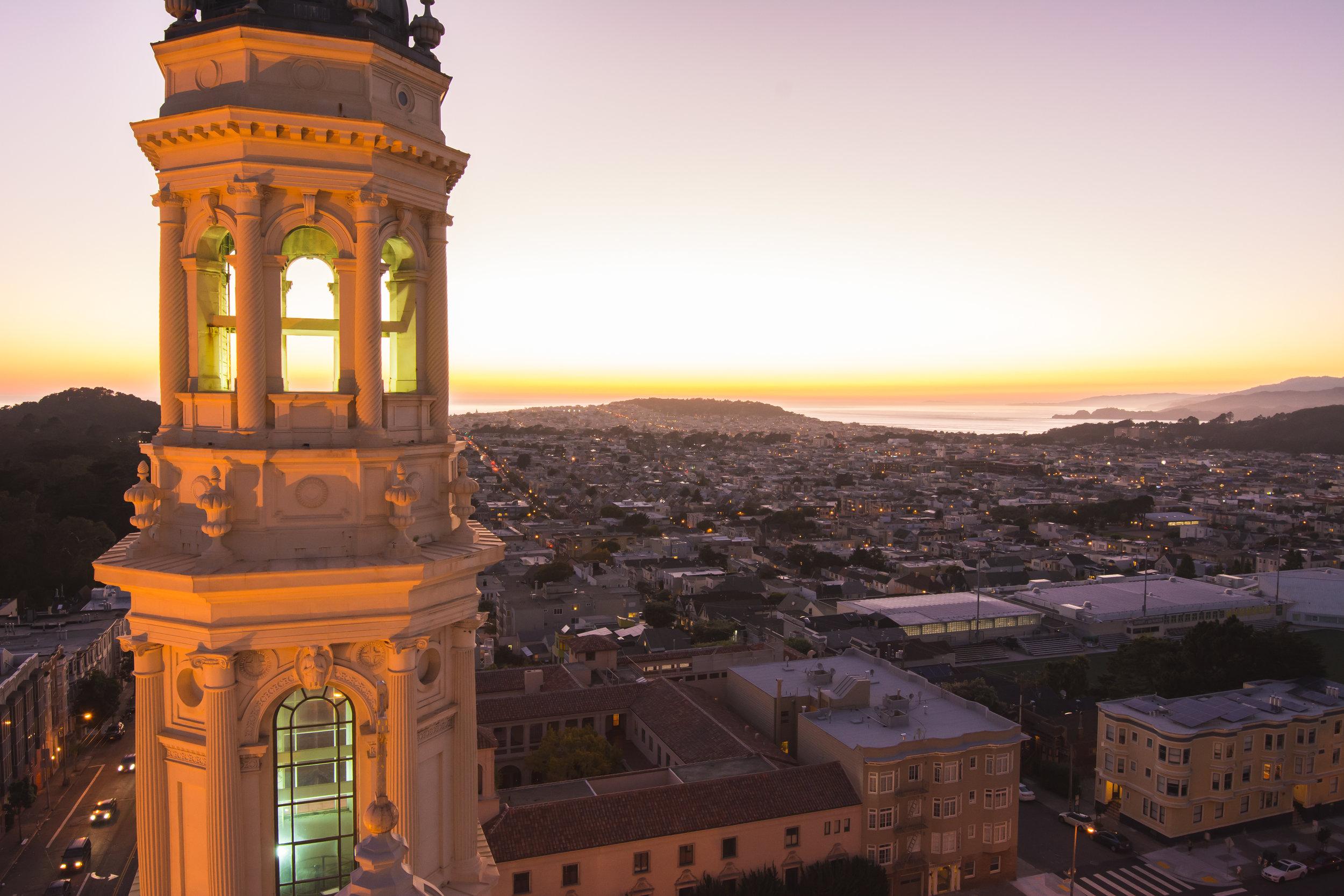 St. Ignatius Church - Bell Tower (photo courtesy of University of San Francisco)