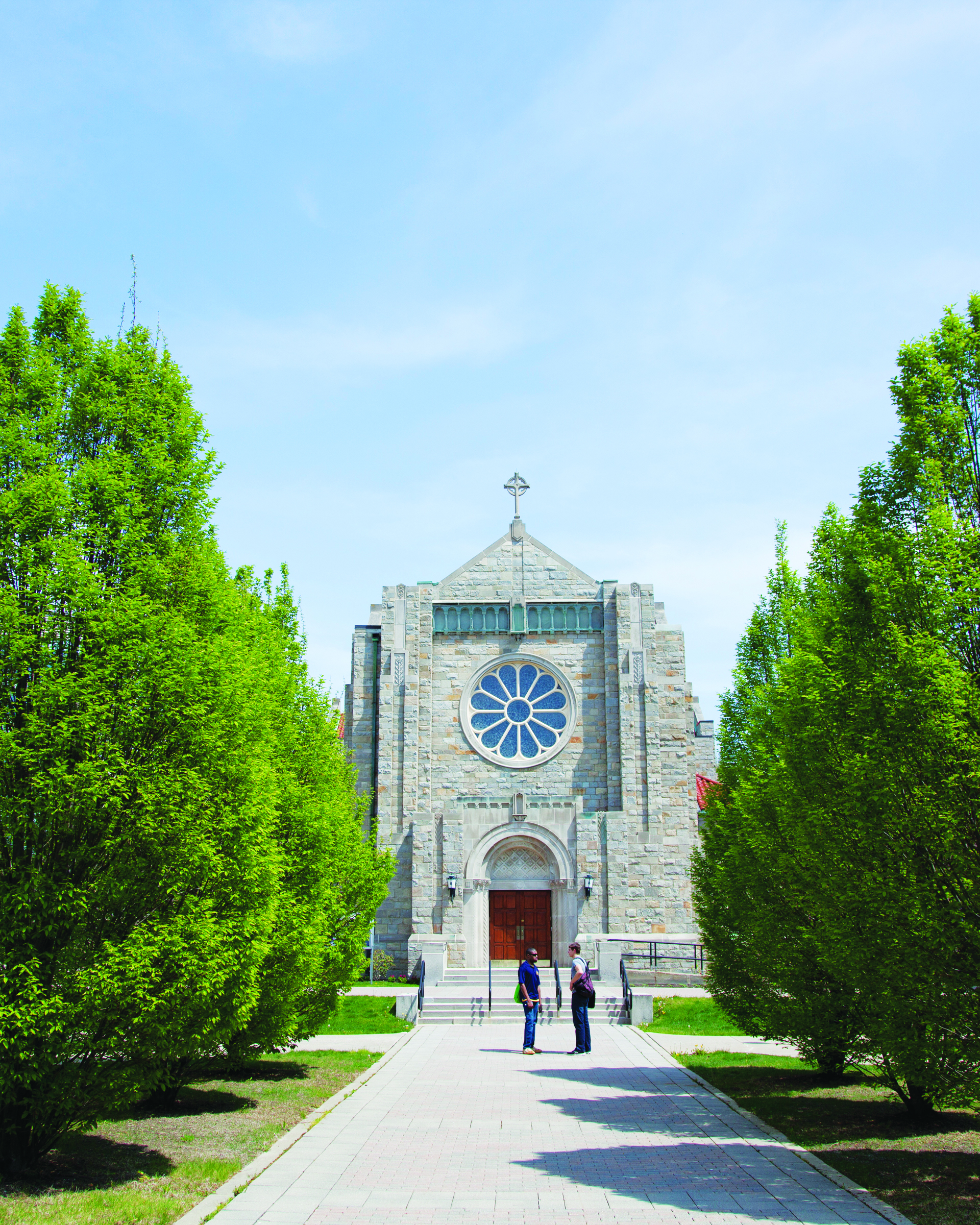 Walkway toward Christ the King Chapel (photo courtesy of Canisius College)
