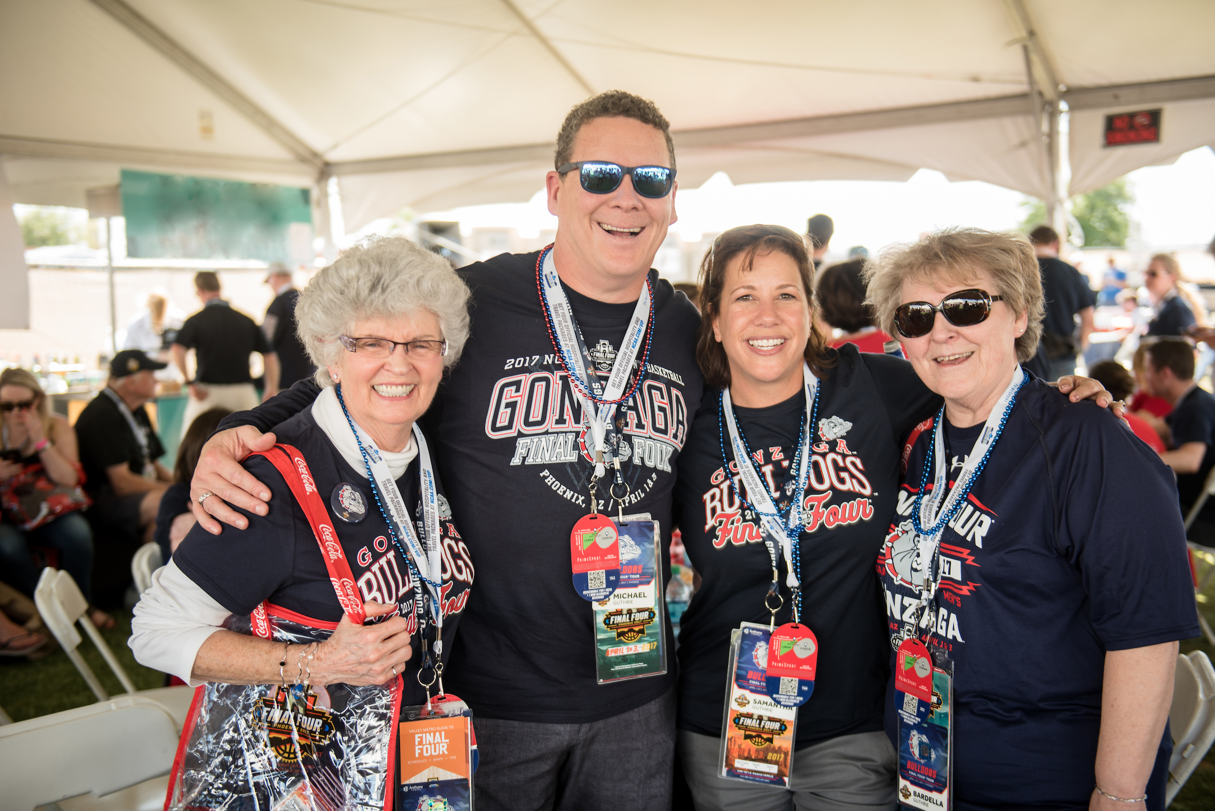 Zag alumni, parents, friends and fans of all generations joined together in Phoenix to celebrate the Gonzaga men's basketball championship appearance in 2017 (photo courtesy of Gonzaga University)
