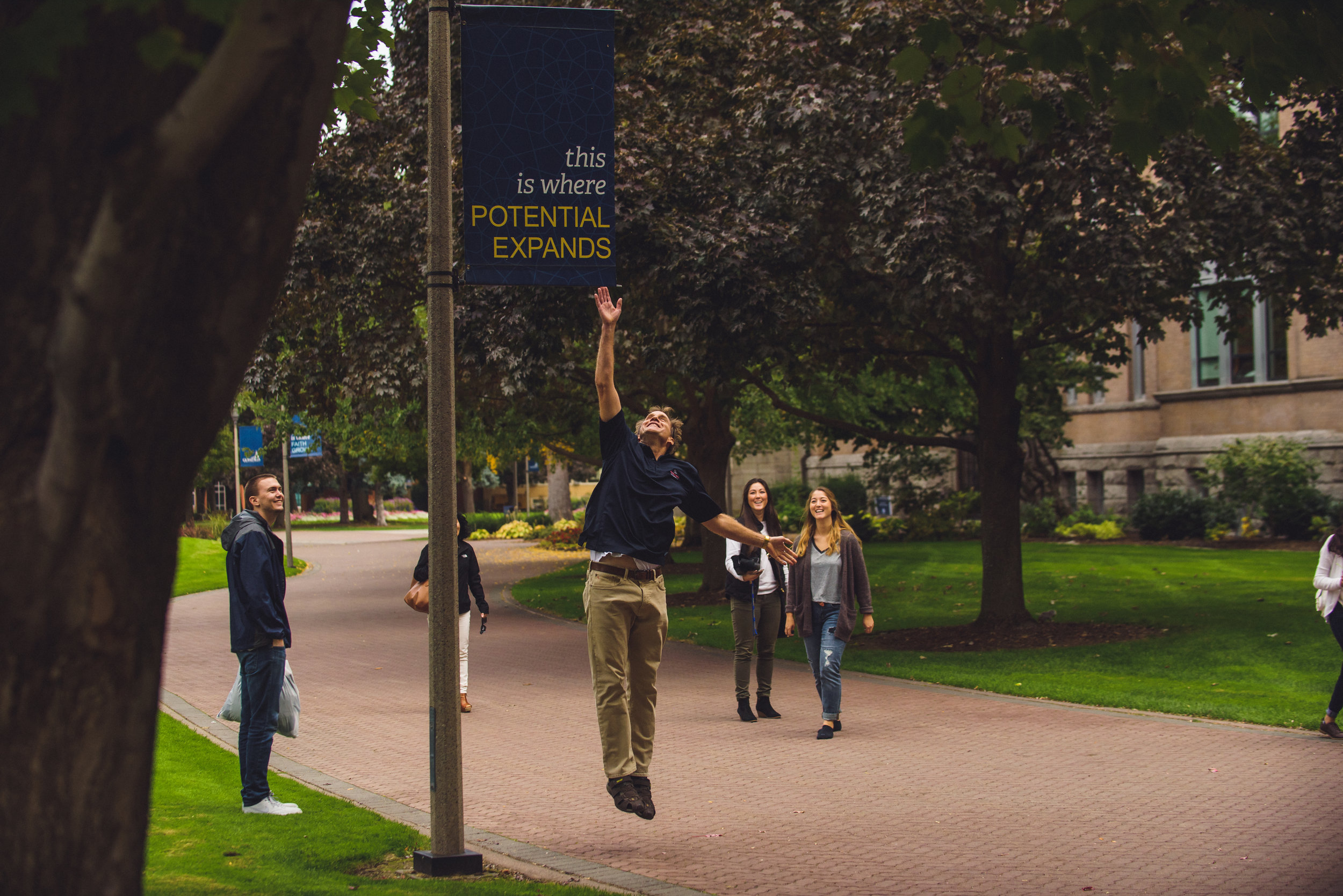 Donor support helps Gonzaga students reach new heights in their academic pursuits, faith formation, and in serving communities for the good of all (photo courtesy of Gonzaga University)