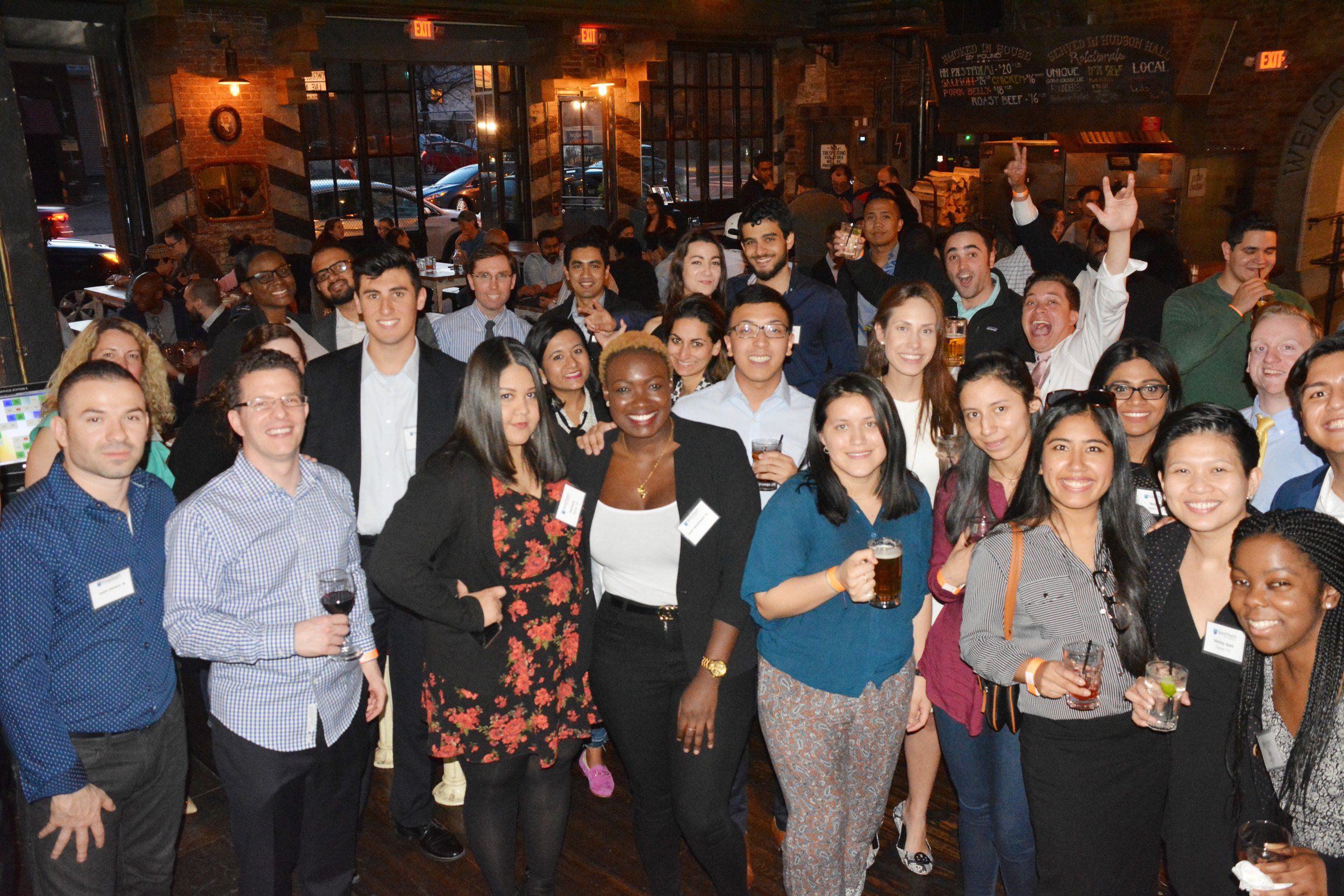 A recent GOLD Alumni Happy Hour, held on April 26, 2018 (photo by Saint Peter's University)