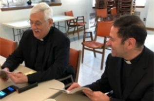 Superior General, Fr. Arturo Sosa,S.J. (left) and Jesuit Conference President, Fr. Timothy Kesicki,S.J. (right) (photo by the Jesuit Conference)