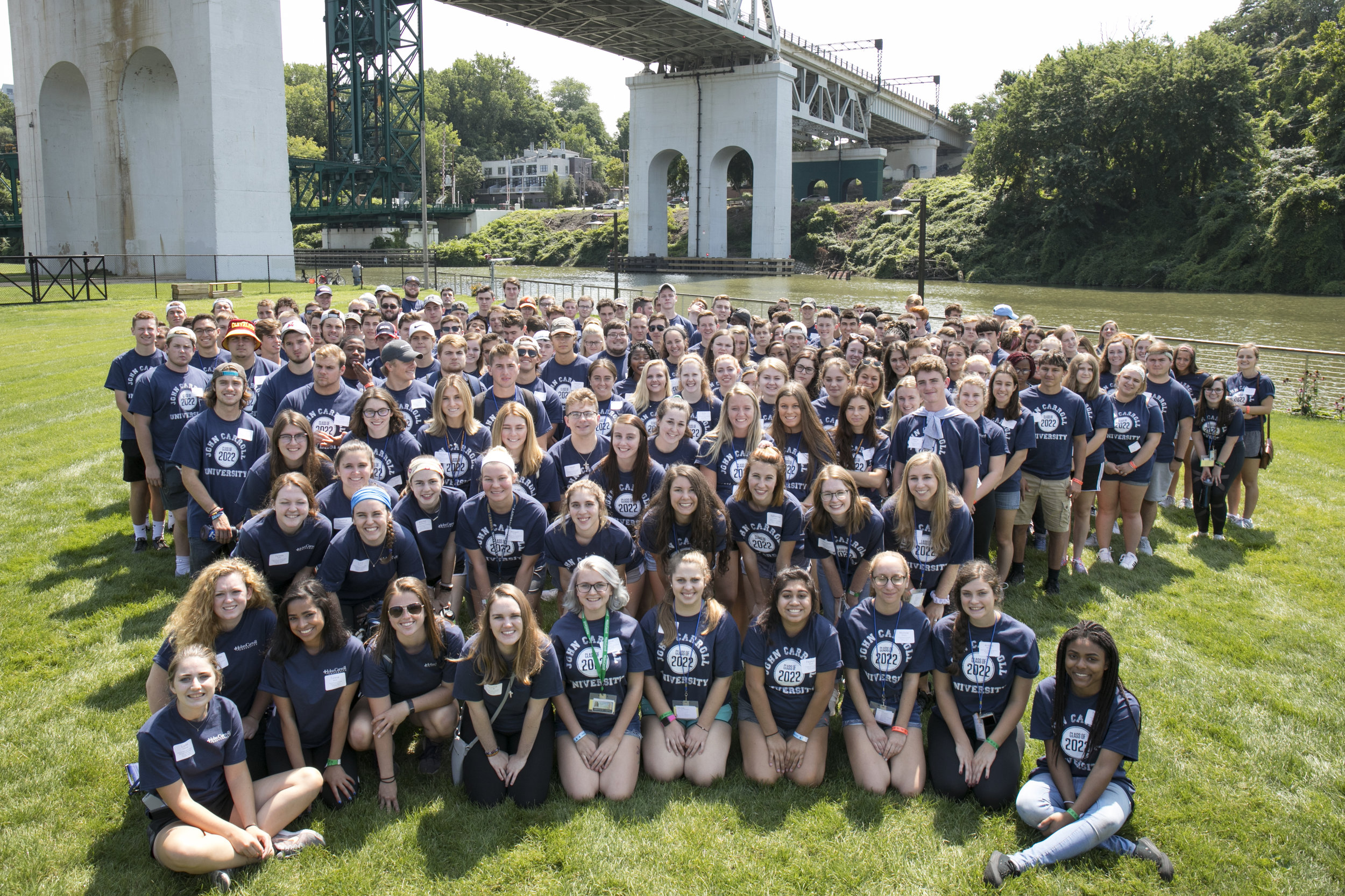 More than 200 new students participated in Meet CLE on August 23, a new service-learning opportunity designed to give John Carroll University's first-year students a stronger appreciation for the Cleveland community (photo by John Carroll University)