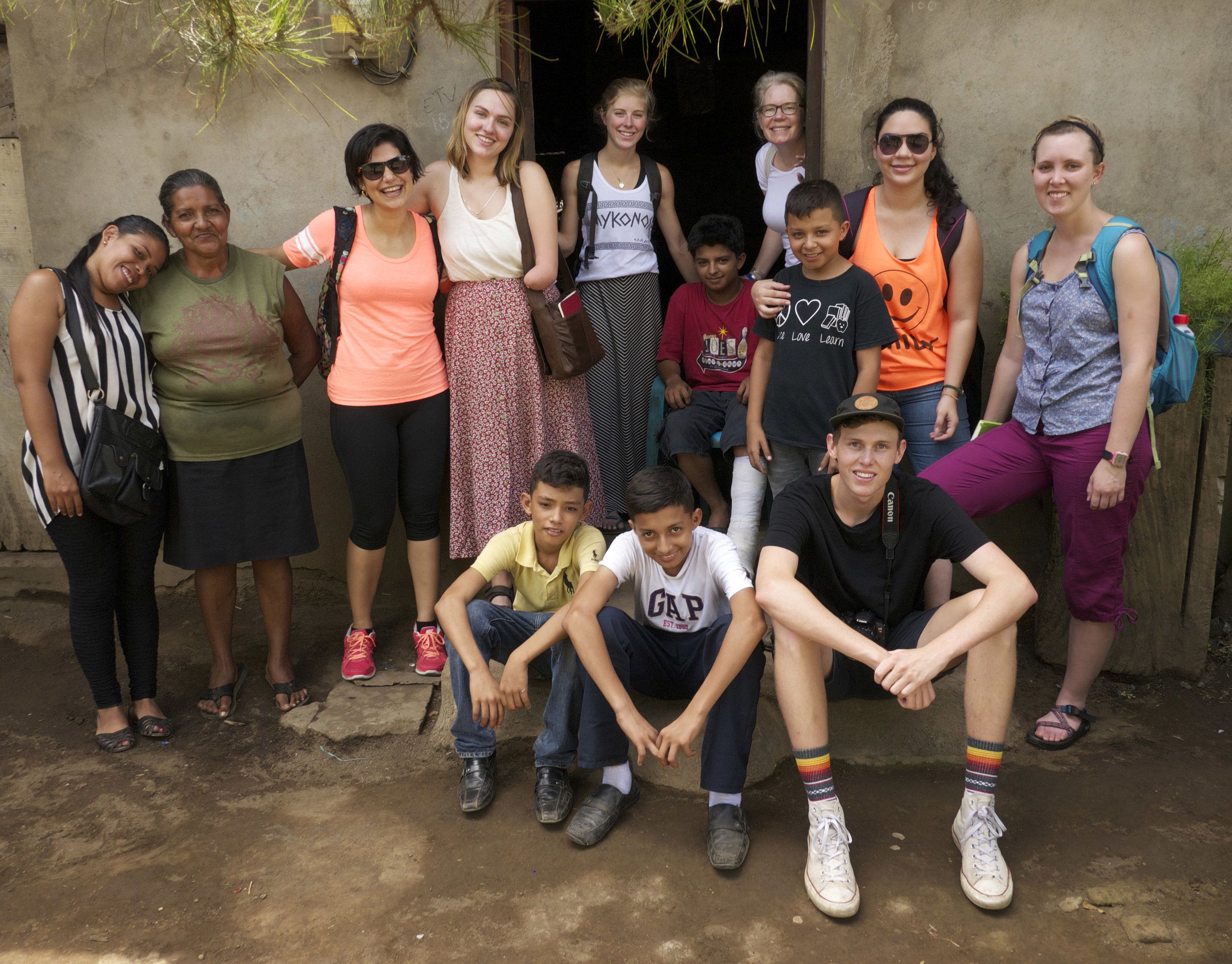 SU-UCA research team with research participants and family members in Chinandega, Nicaragua (photo by Claire Garoutte)