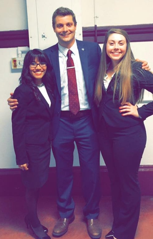 ABOVE: PPP Alumni Heyra Avila & Shelby Lauter with Sean Comer (photo courtesy of Shelby Lauter)