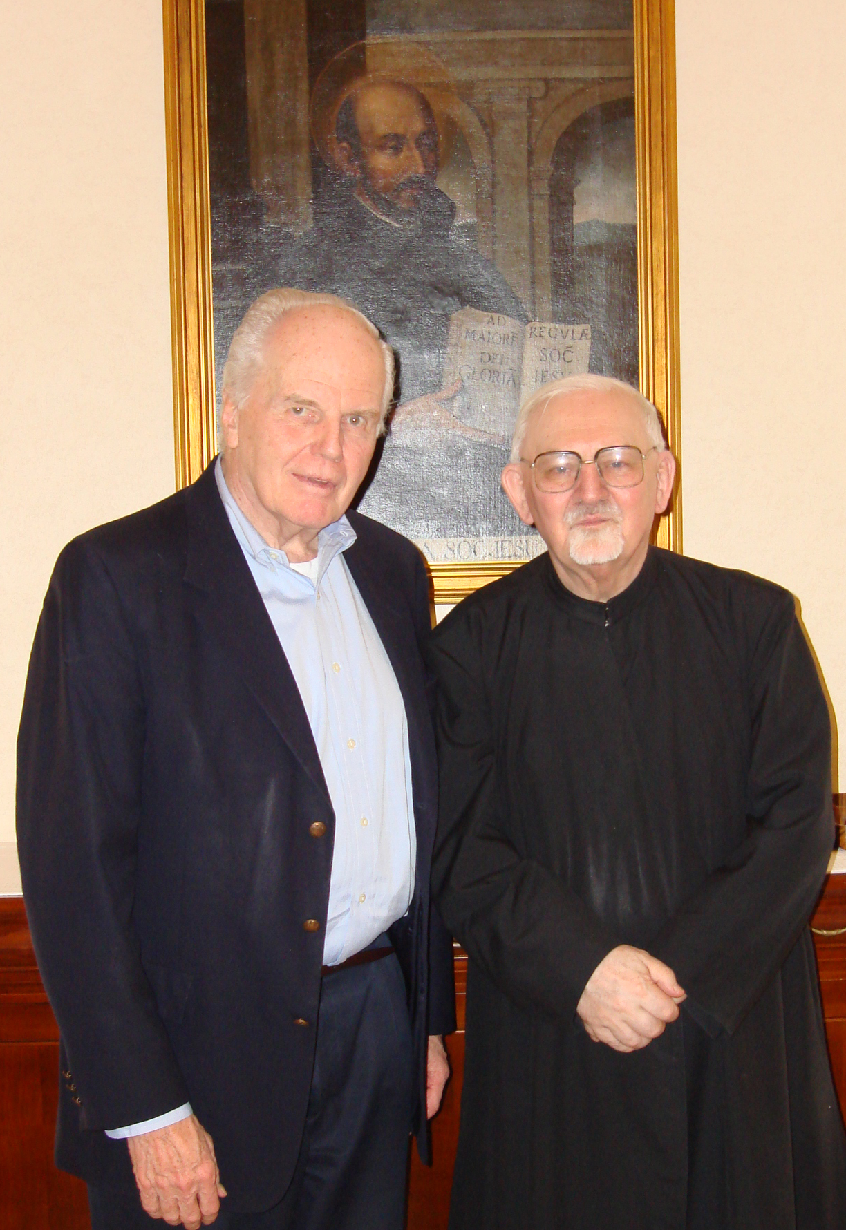 Fr. Currie with Rev. Peter Hans Kolvenbach, S.J., former Superior General of the Society of Jesus