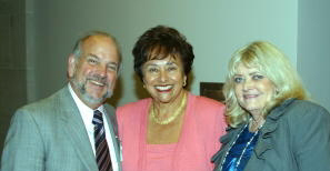 Cyndy with Scott Fleming, former associate vice president for federal relations at Georgetown University, and Representative Nita Lowey (D-NY) (c. 2000s)