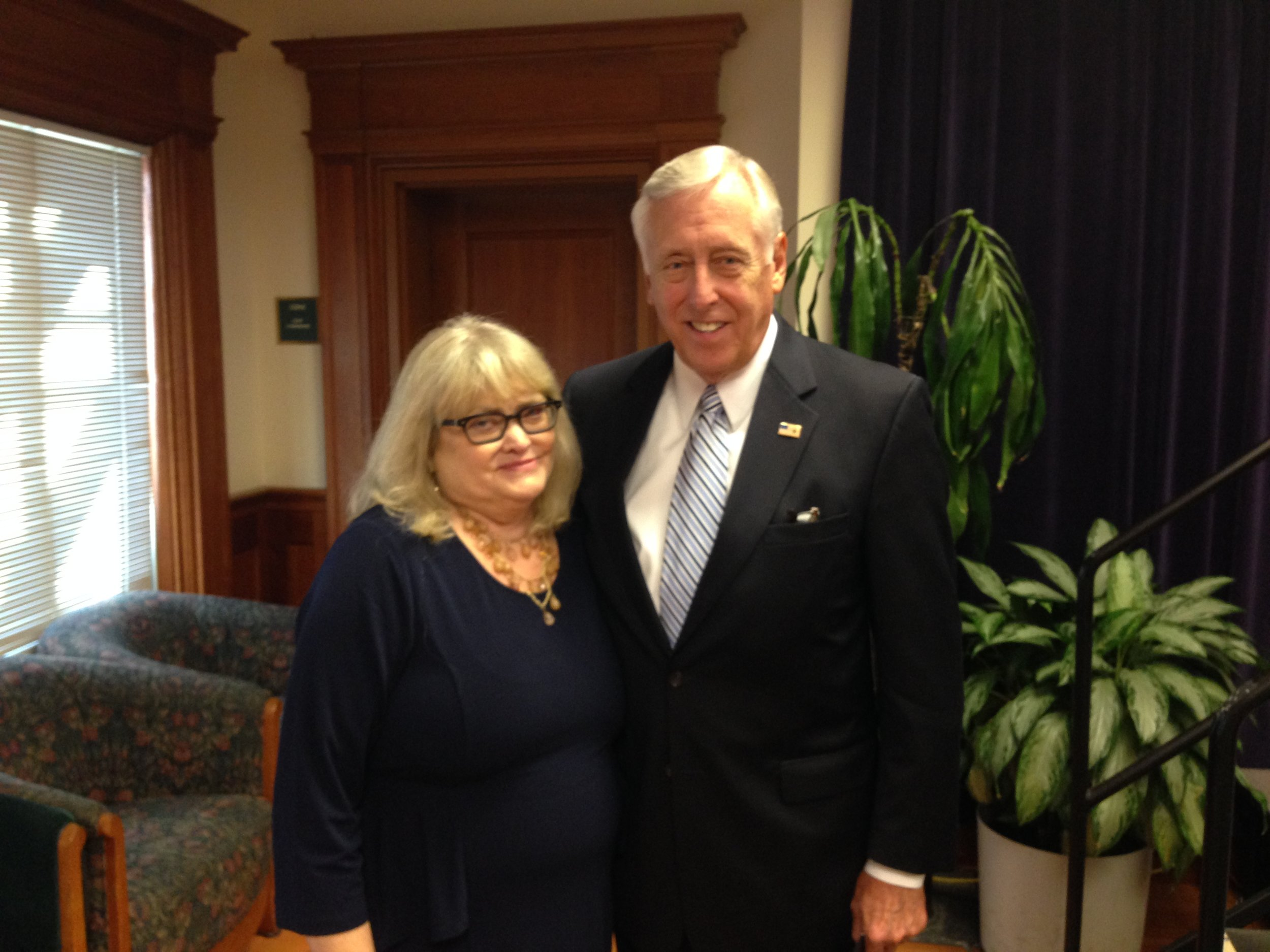 Cyndy with House Majority Leader, Representative Steny Hoyer (D-MD), during the 2013 CEF legislative conference