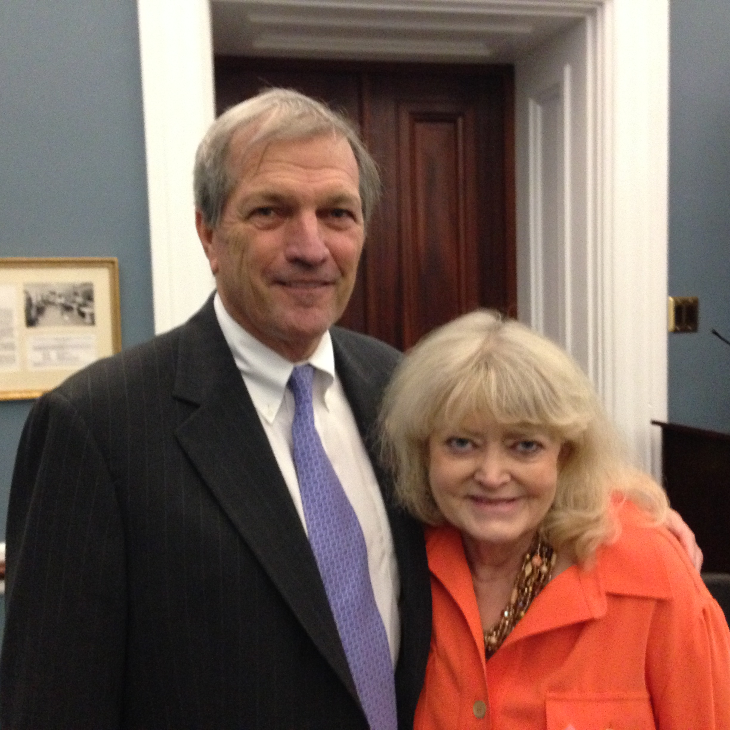 Cyndy with Representative Mark DeSaulnier (D-CA), co-founder of the Friends of Jesuit Colleges and Universities Caucus, during the 2015 AJCU Federal Relations Conference