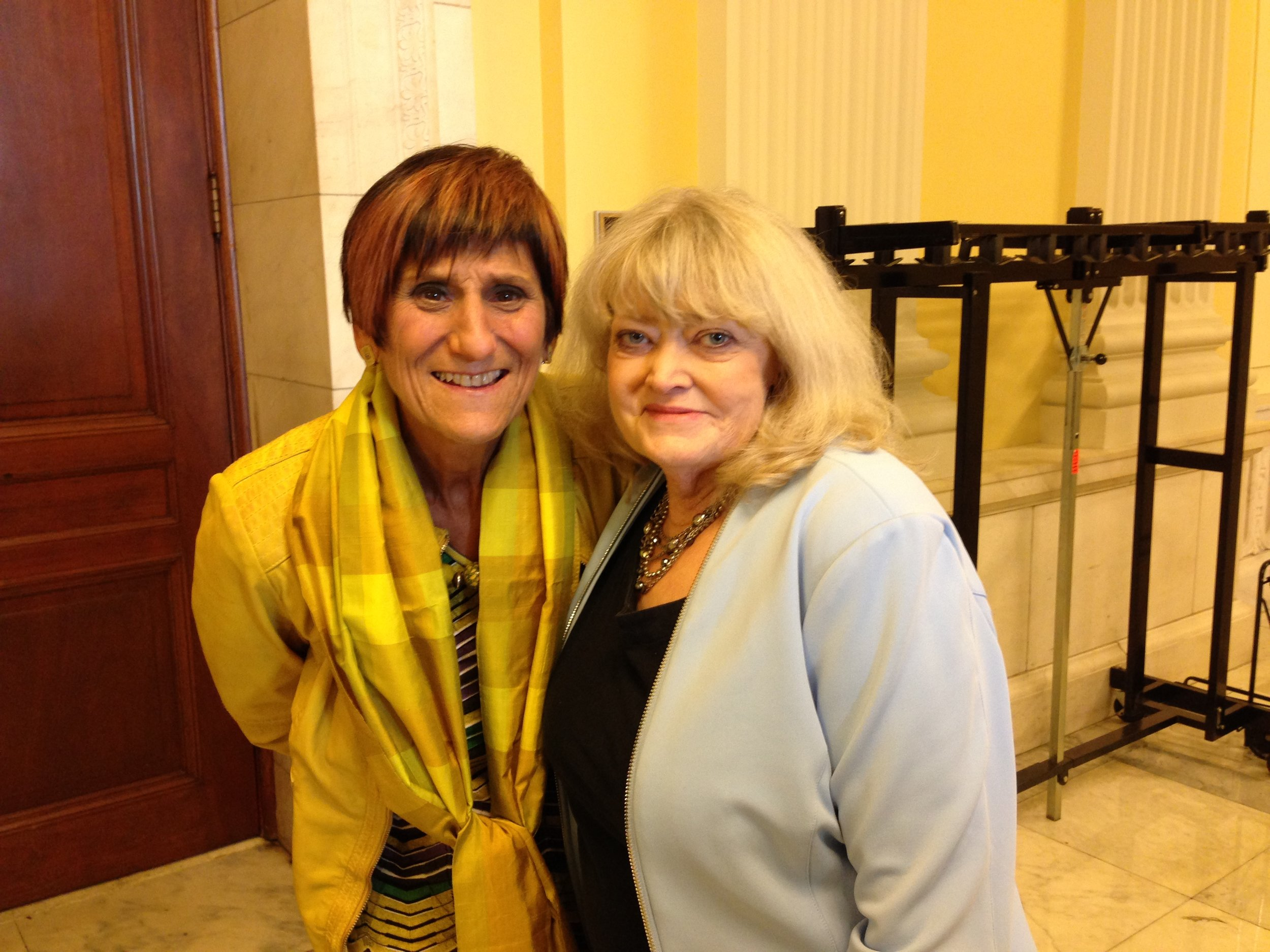 Cyndy with Representative Rosa DeLauro (D-CT) during the 2015 CEF Conference