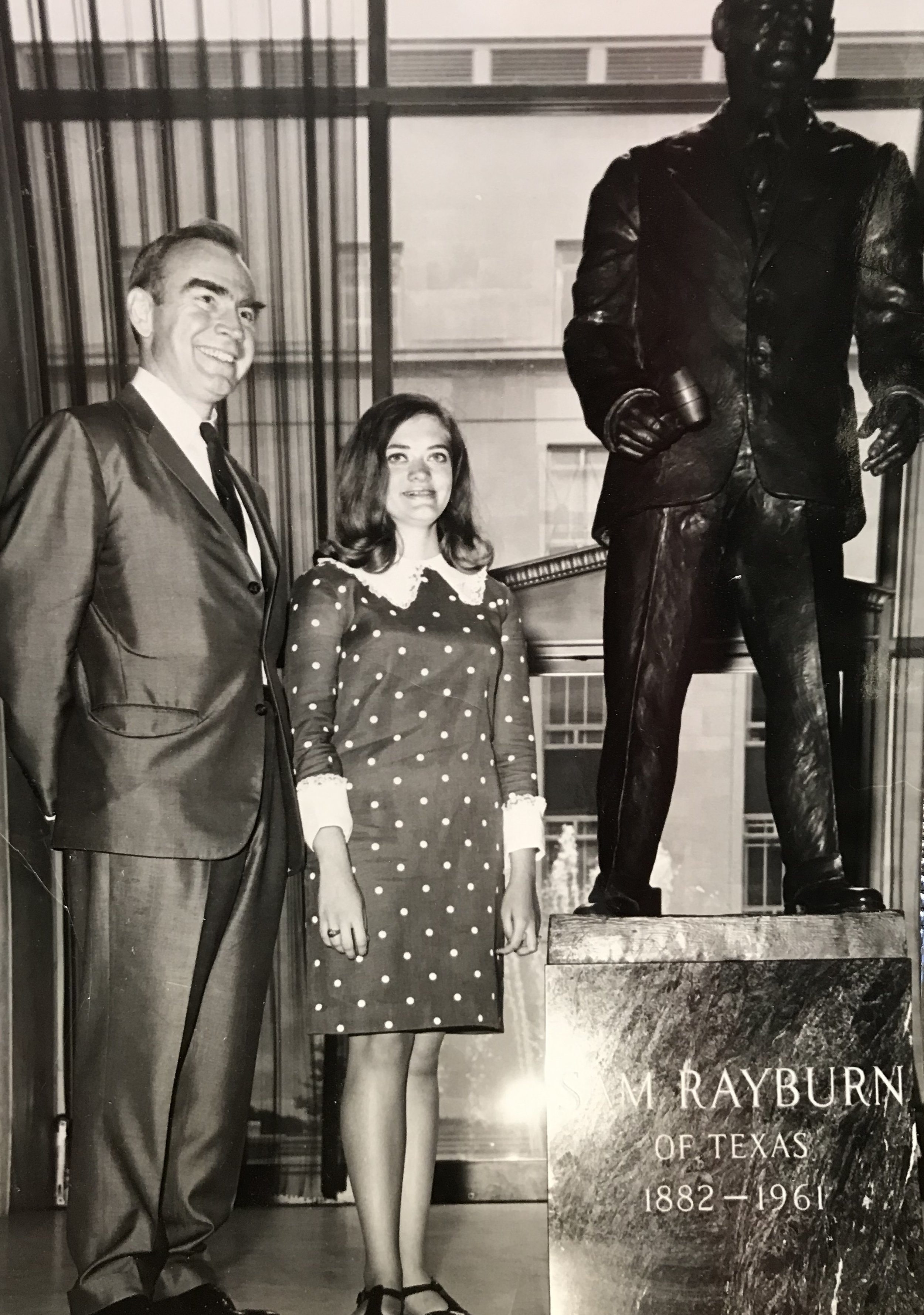 Cyndy with former Speaker of the U.S. House Representatives, Jim Wright (c. 1970s)