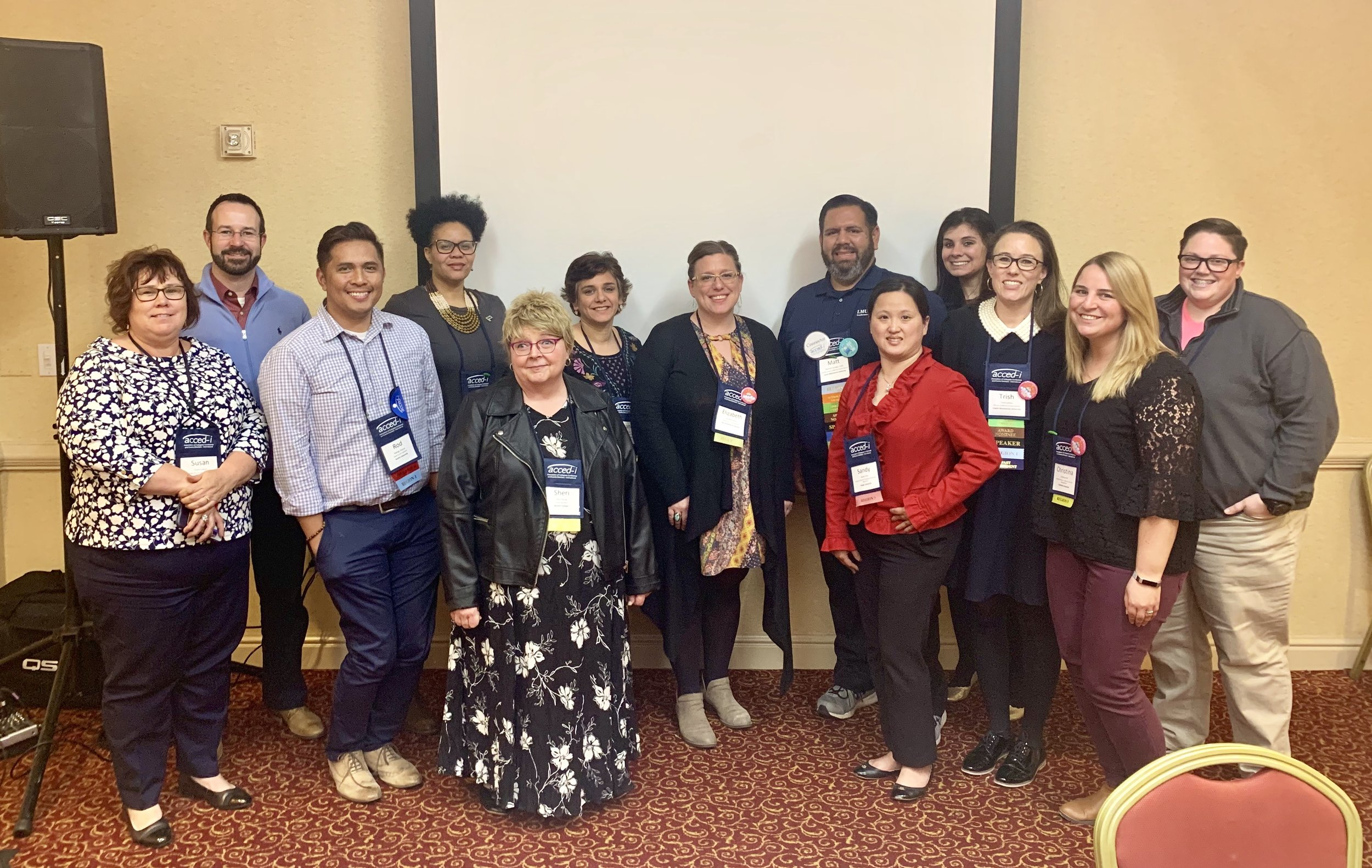 Members of the AJCU Conference and Event Professionals Conference met at the Wyndham Grand Pittsburg Downtown Hotel for their annual meeting on March 25, 2019 (photo courtesy of Trish Carlson)