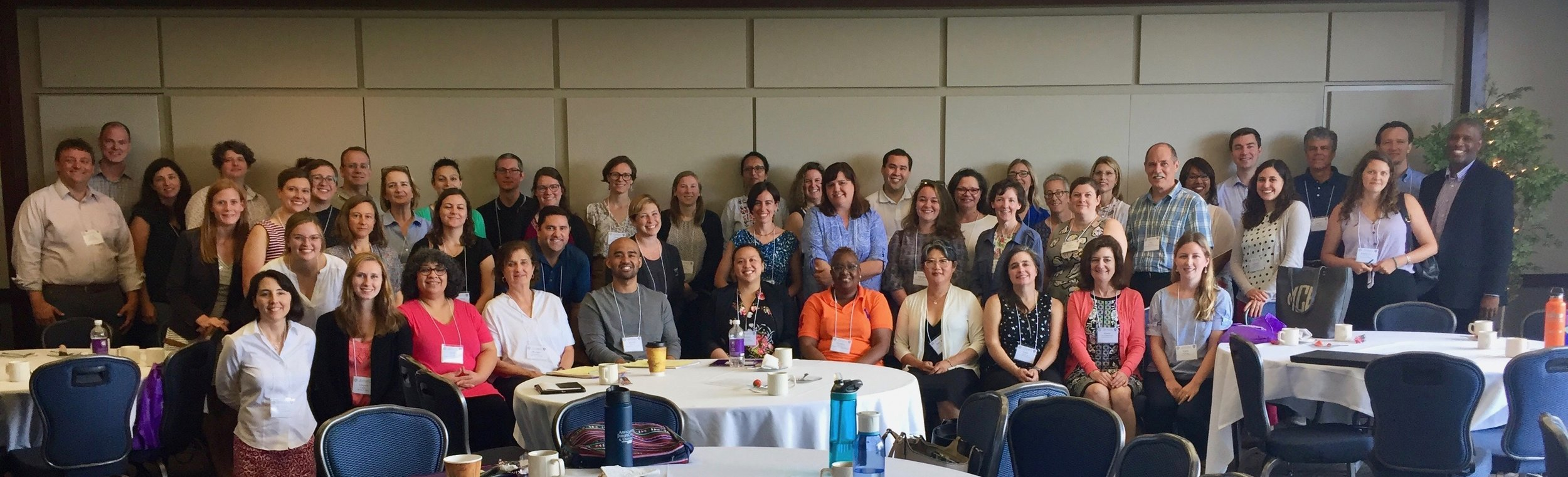 A record number of participants (54) gathered at the College of the Holy Cross in June 2019 for the biannual meeting of the AJCU Service Learning Professionals (photo courtesy of Holy Cross)