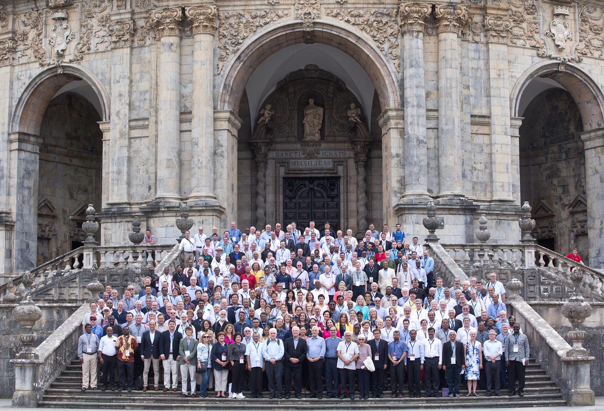 Representatives from nearly 200 Jesuit institutions of higher education across the world gathered in Bilbao, Spain for the launch of IAJU on July 11, 2018 (photo courtesy of Ignacio Garrido Cruz)