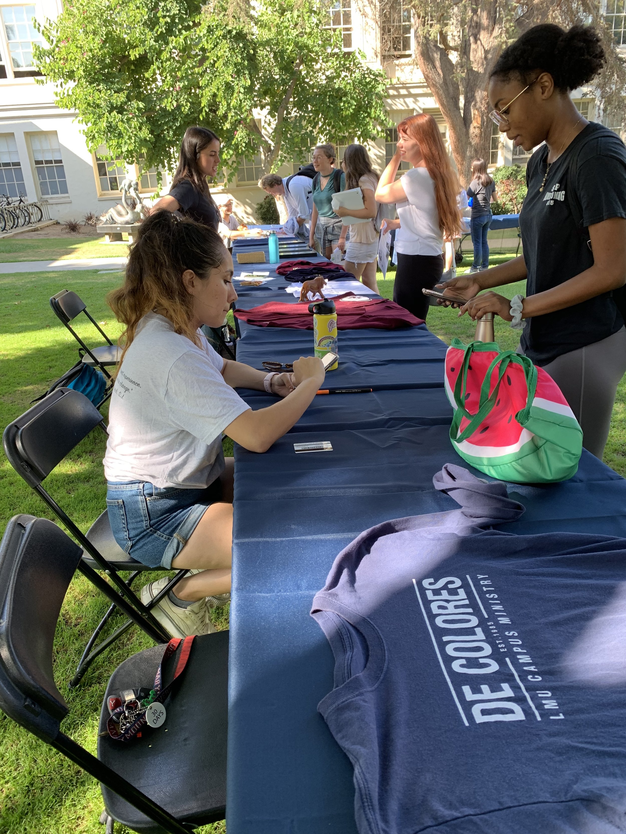 "Loyola Marymount University hosted ""Slice of Service"" on campus, to introduce first-year students to more than 25 clubs and organizations dedicated to community service and social justice work on and off campus, locally and abroad (photo by Loyola Marymount University)"