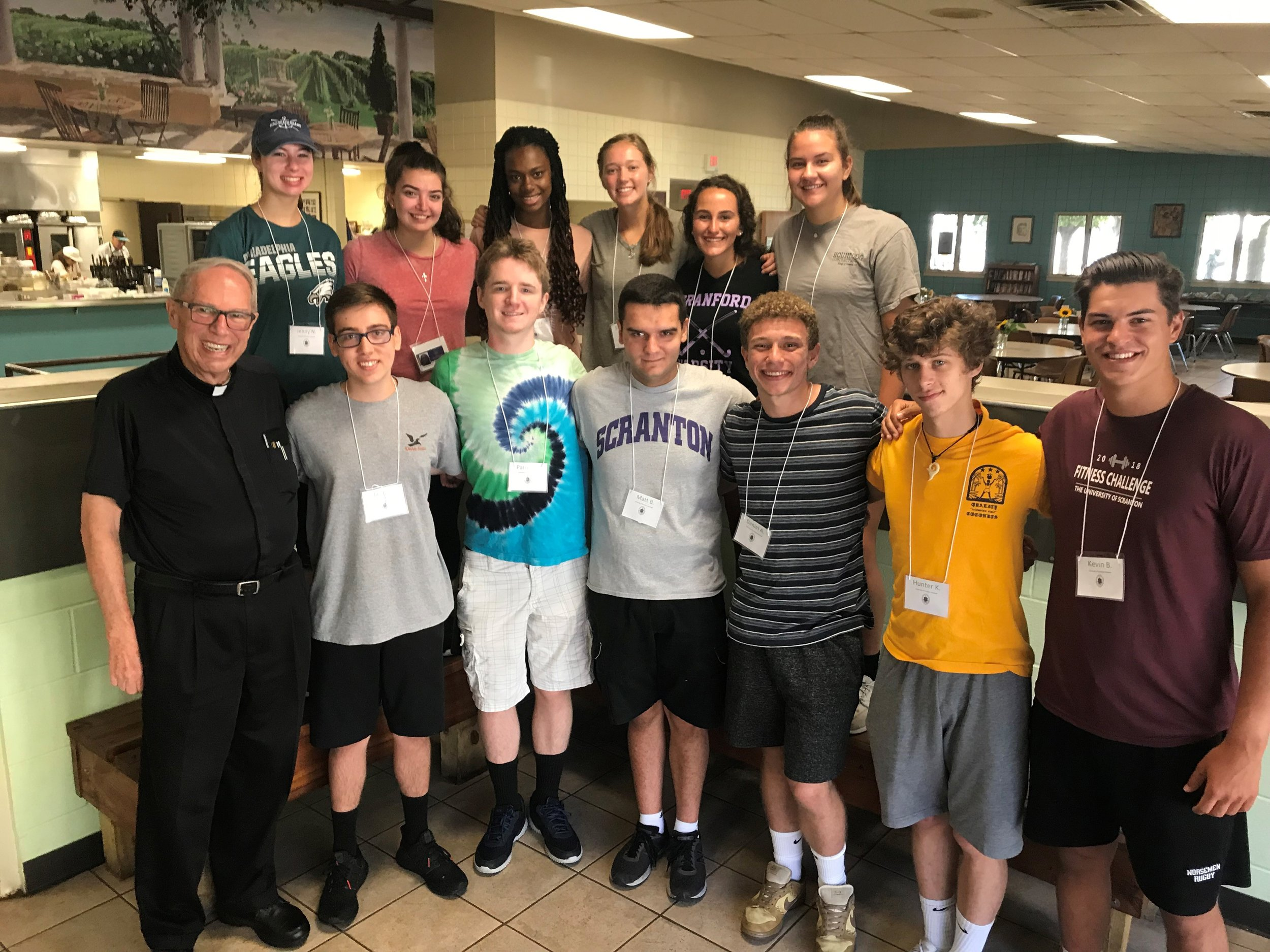 Students in The University of Scranton's FIRST Program (Freshmen Involved in Reflective Service Together) volunteered at the St. Francis of Assisi Client-Choice Food Pantry in Scranton, PA (photo by The University of Scranton)