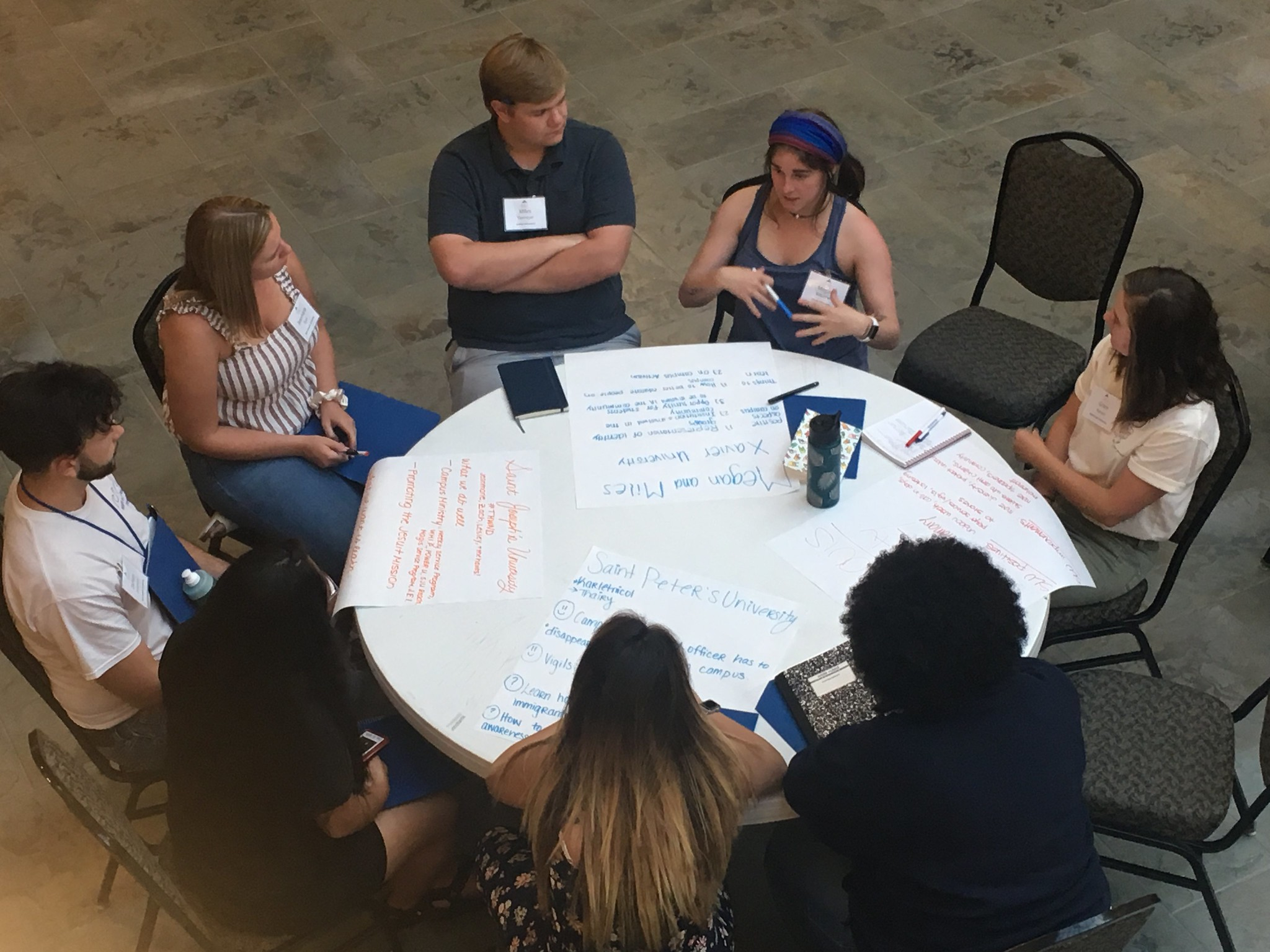 Students shared stories and ideas during group break-out sessions (photo by Ignatian Solidarity Network)