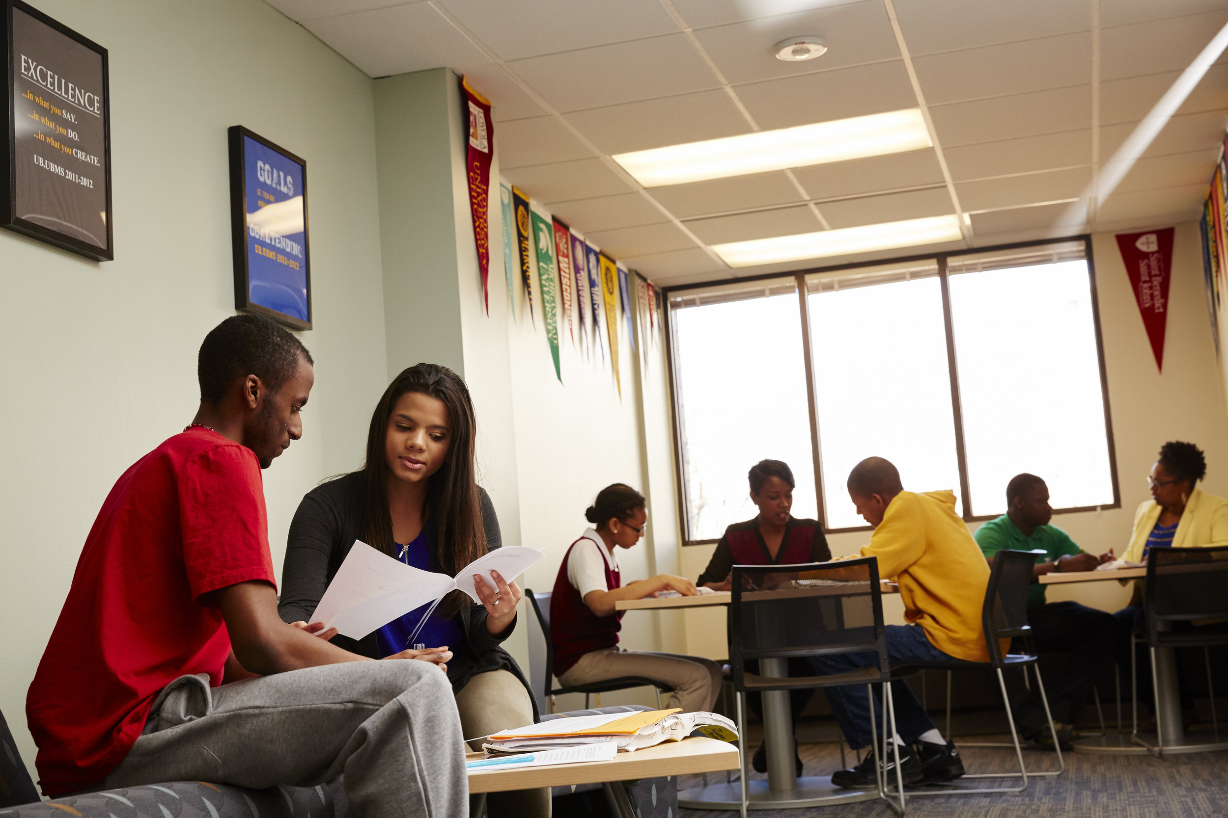 Students gather in the EOP Student Lounge at Marquette (photo by Marquette University)