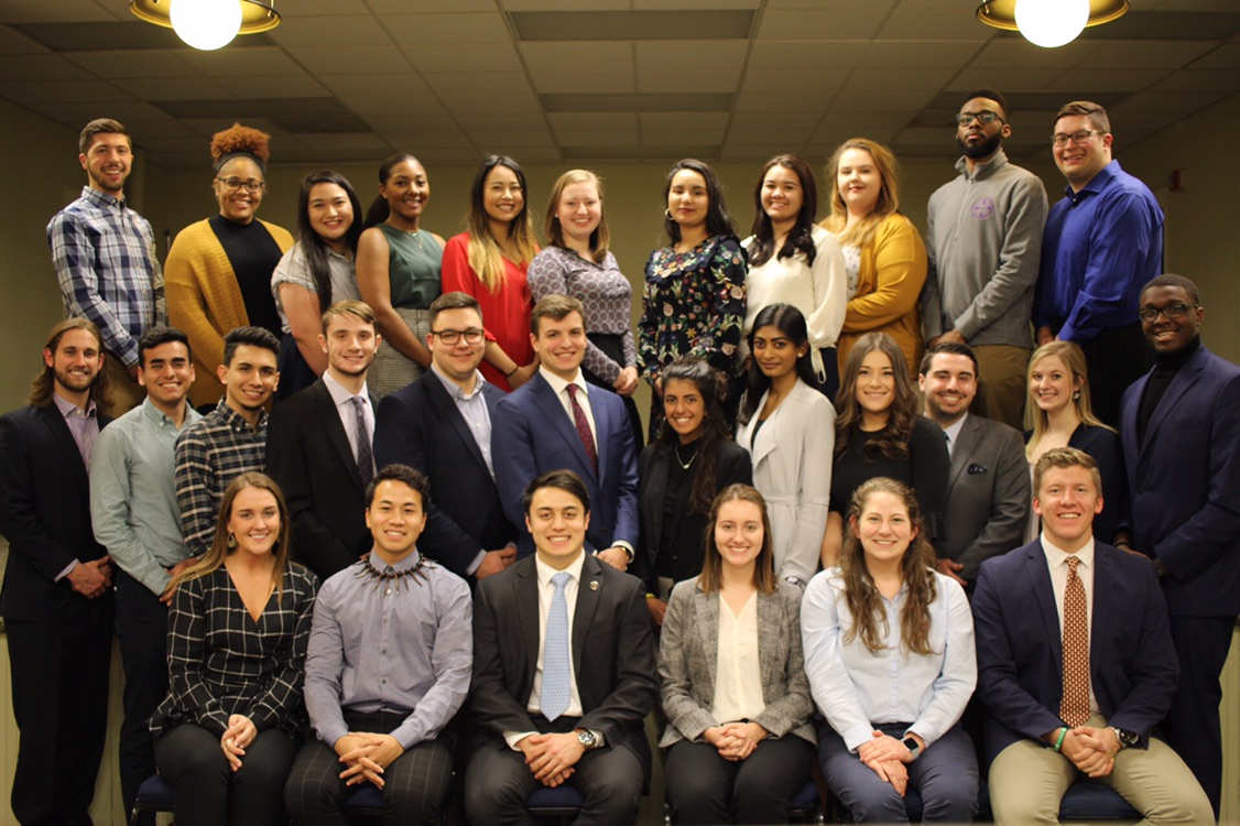 Members of the 2018-19 Jesuit STudent Government Alliance met at Saint Louis University for the inaugural JSGA Winter Summit in January 2019 (photo courtesy of former JSGA co-chairs, Katlyn Martin & Patrick Marta)