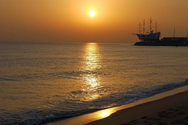 evening seascape in shikoku