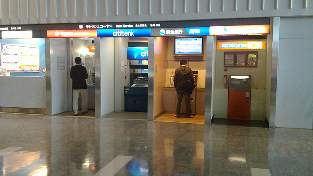 Japanese atms placed indoors for security. Photo by: Flickr@David Hall