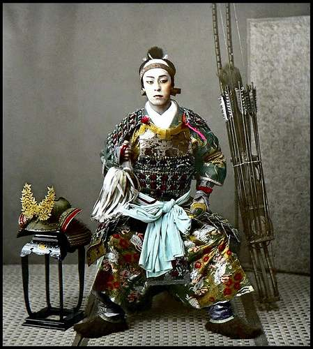 edo samurai with make-up. Photo by Flickr:@madmrmox