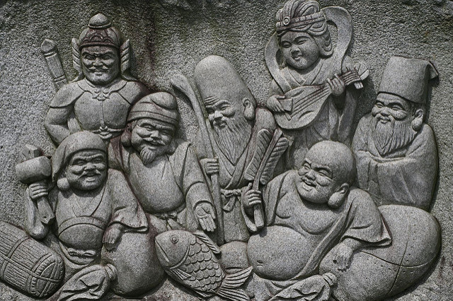 Japan's 7 gods of fortune. Photo by Flickr:@Steve