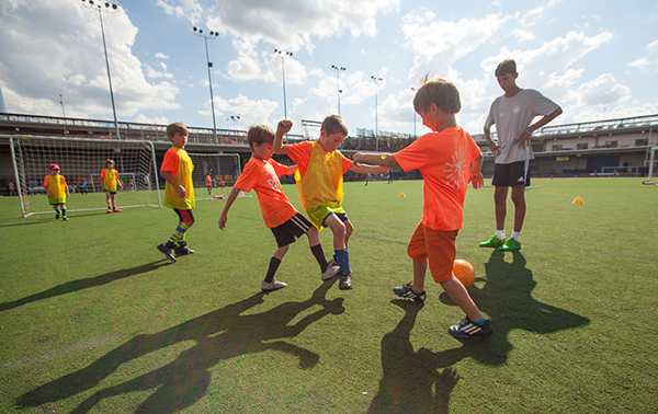 Players at DUSC Sumer camp have fun.