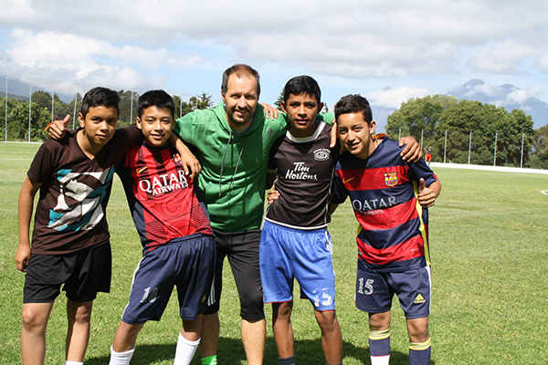 Coach Vince and friends in Guatemala with DUSC and Soccer Recycle.