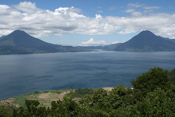 There were breathtaking panoramas in Guatemala when DUSC players visited with Soccer Recycle.
