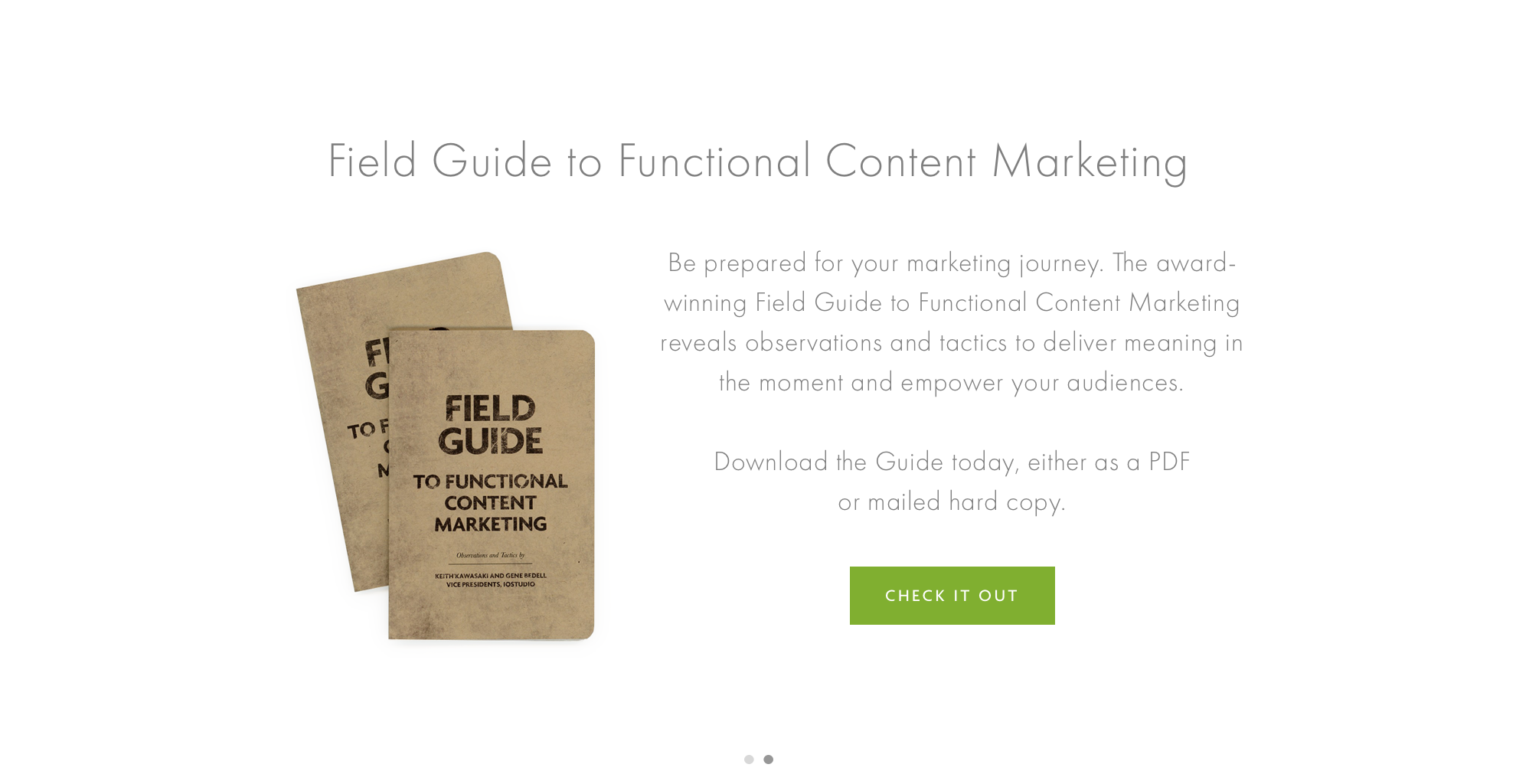 Field Guide to Functional Content Marketing