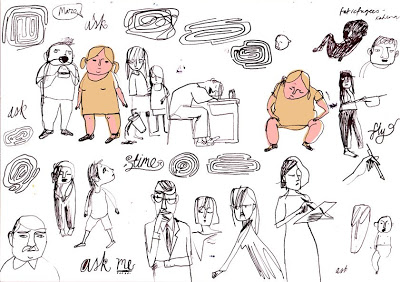 Preparation doodles for the Student Magazine at UCLA by Jill Calder