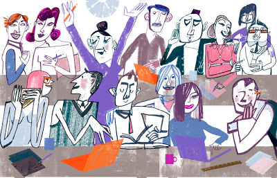 """The Happiness Business"" - Guardian Work cover by Jill Calder"