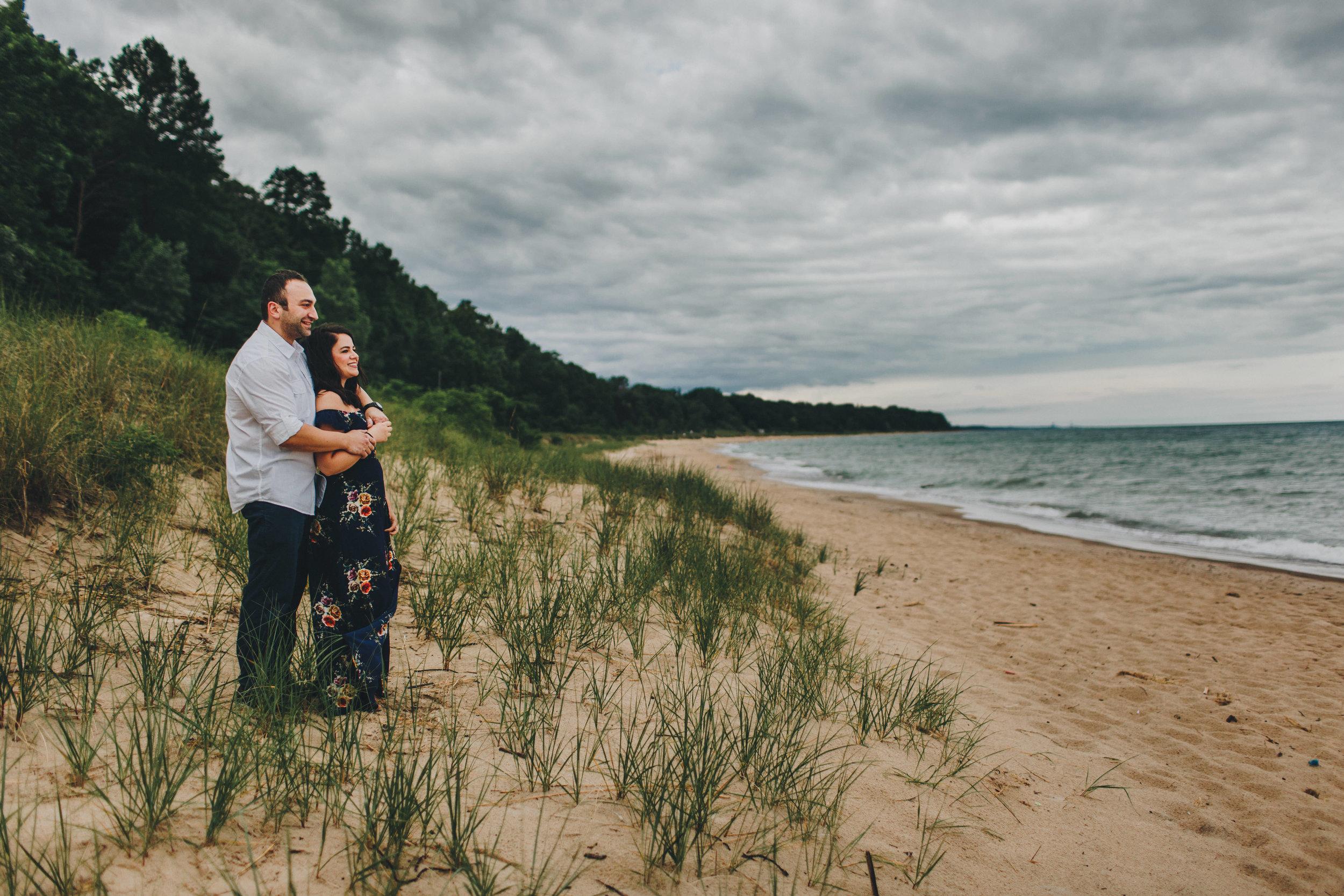 Southwest Michigan Wedding Photographer_Lake Michigan Engagement Session